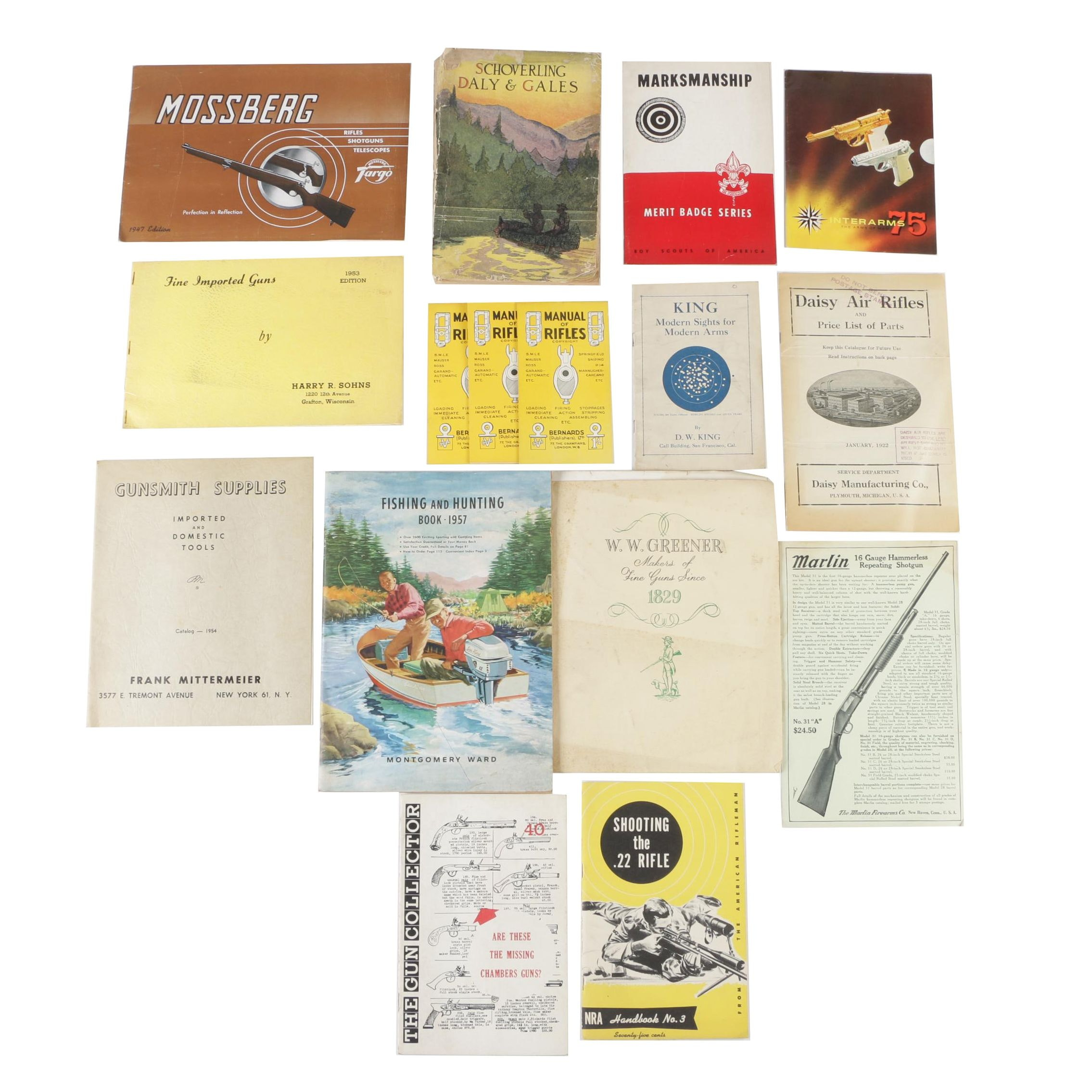 Firearms Books, Instruction Manuals, and Catalogs, Early to Mid-Century