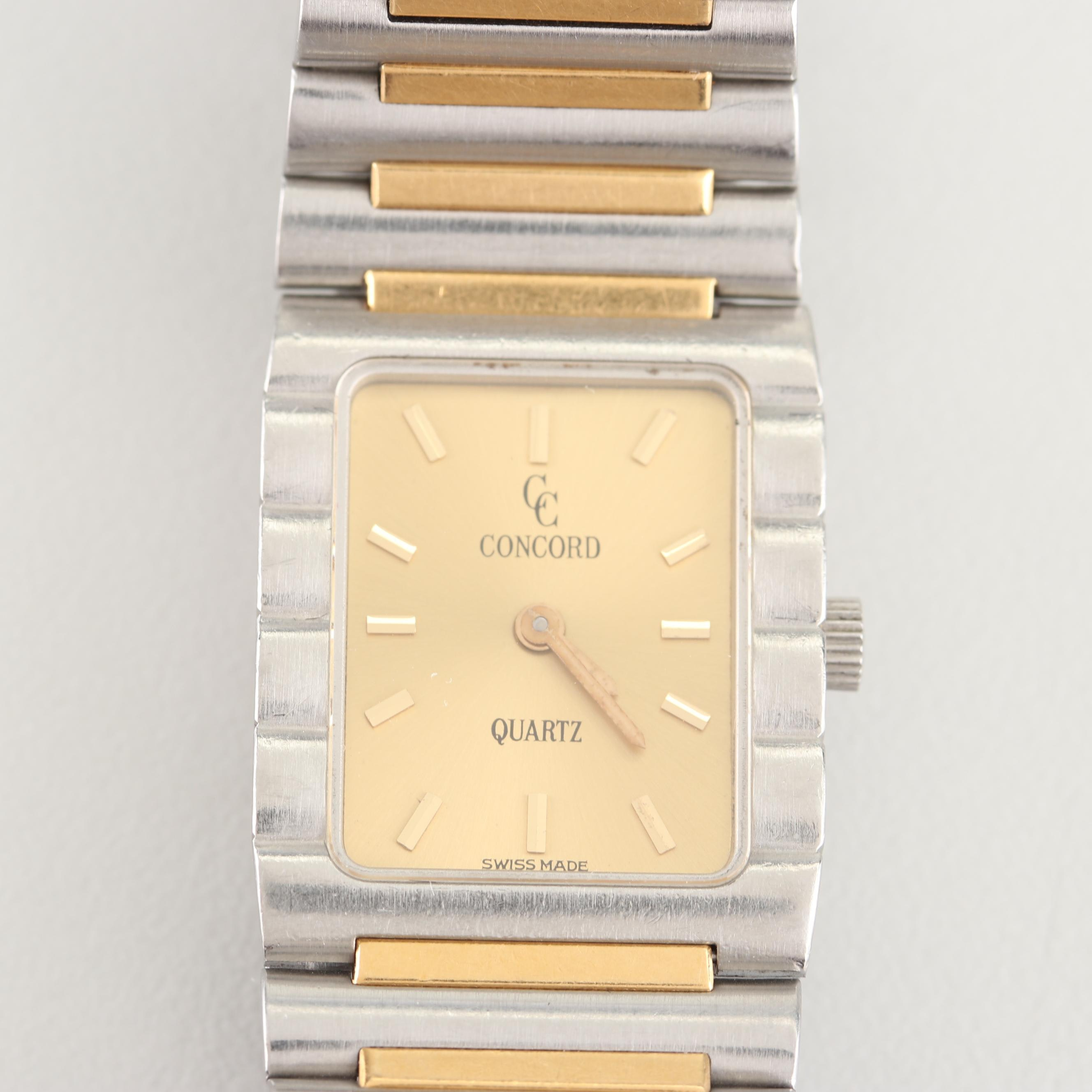 Concord Stainless Steel and 10K Yellow Gold Wristwatch