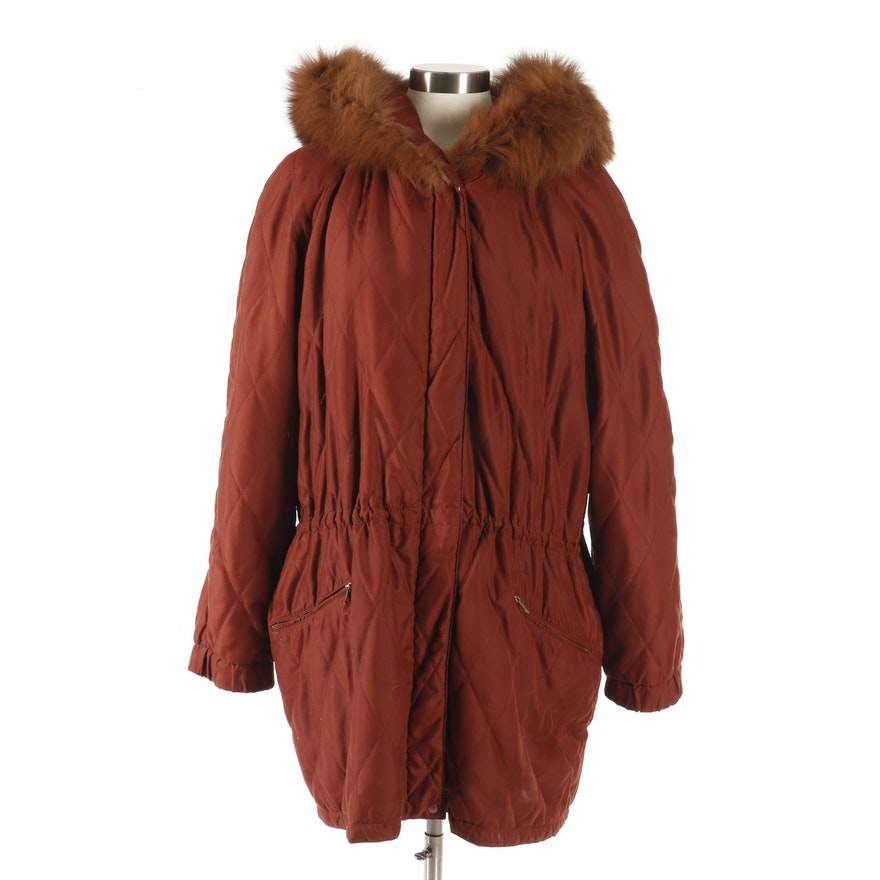 34ea29a927 Women s Begedor Italia Quilted Jacket with Fox Fur Trim