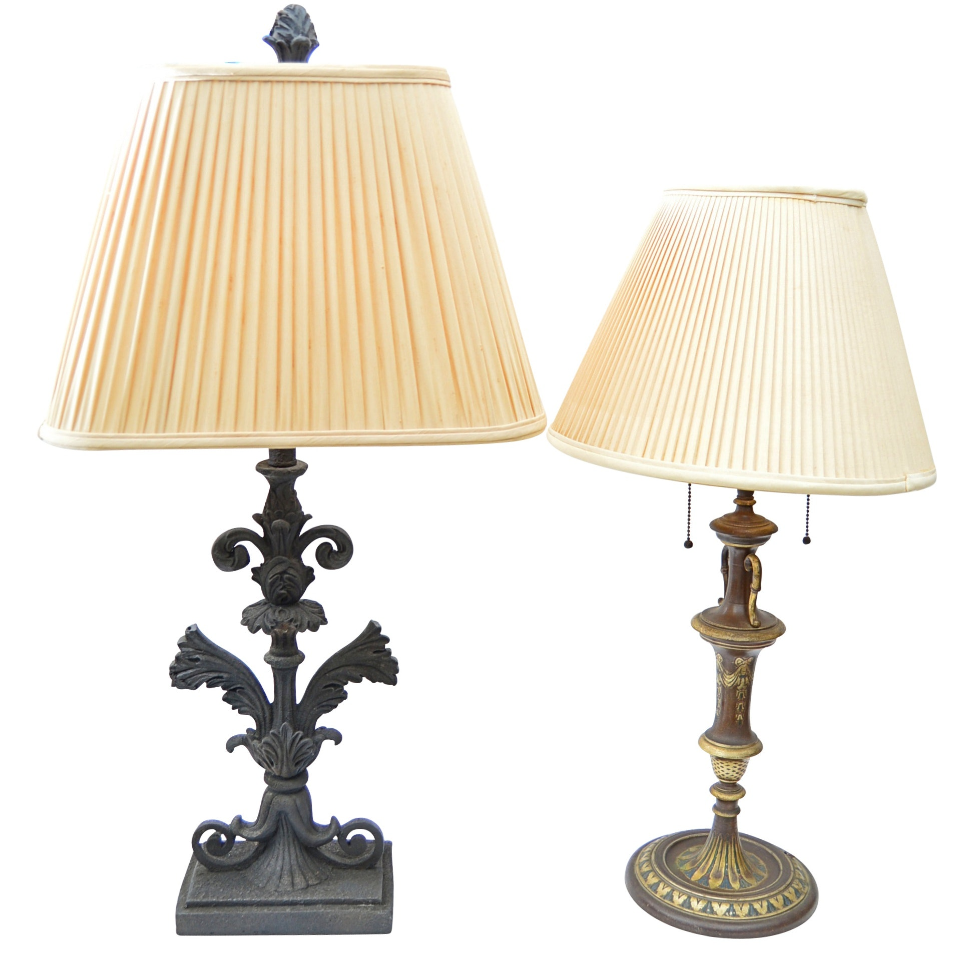Neoclassical Style Table Lamps, Mid and Late 20th Century