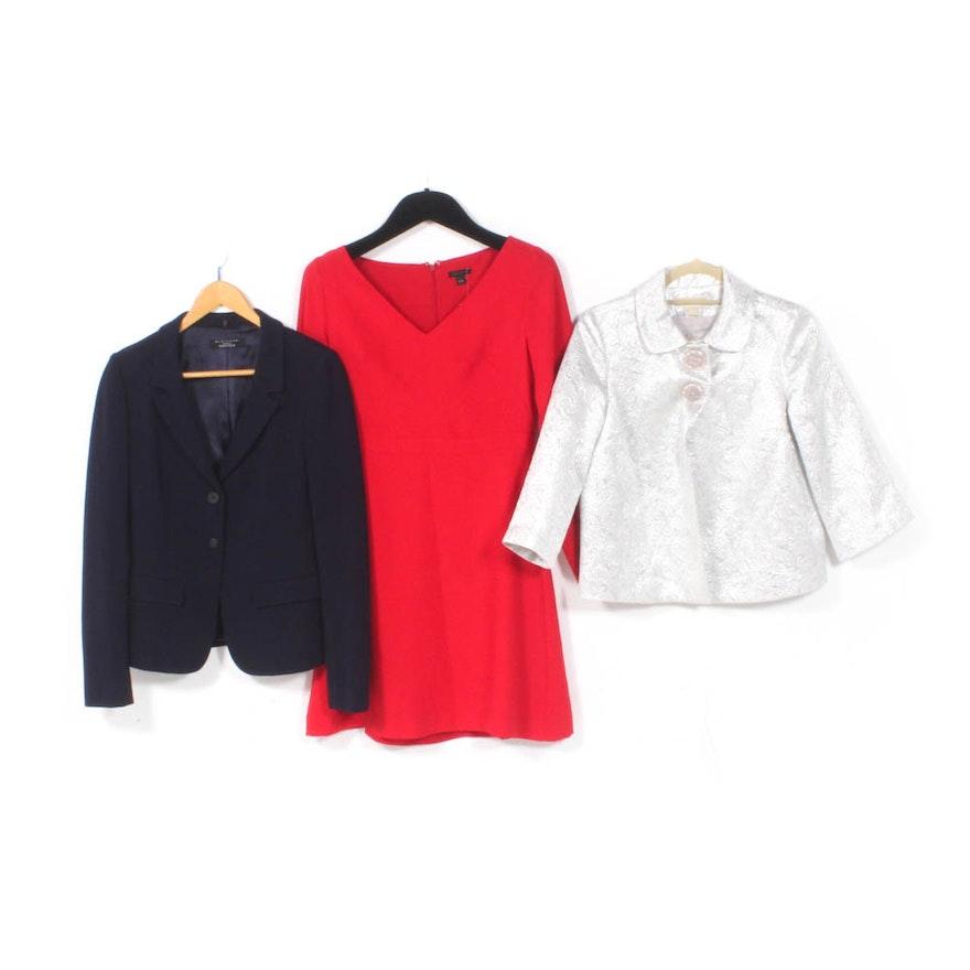 fb2a73b9598e Women's Ann Taylor Dress, MICHAEL Michael Kors Jacket and Elie Tahari Blazer  : EBTH