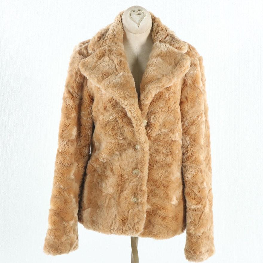 b45a06f2d8ec Betsey Johnson New York Faux Fur Coat   EBTH