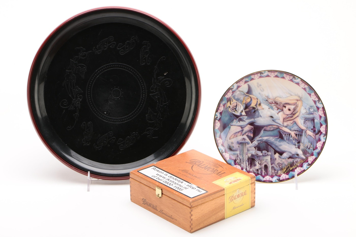 Japanese Lacquerware, Collector's Plate, Figurines, And