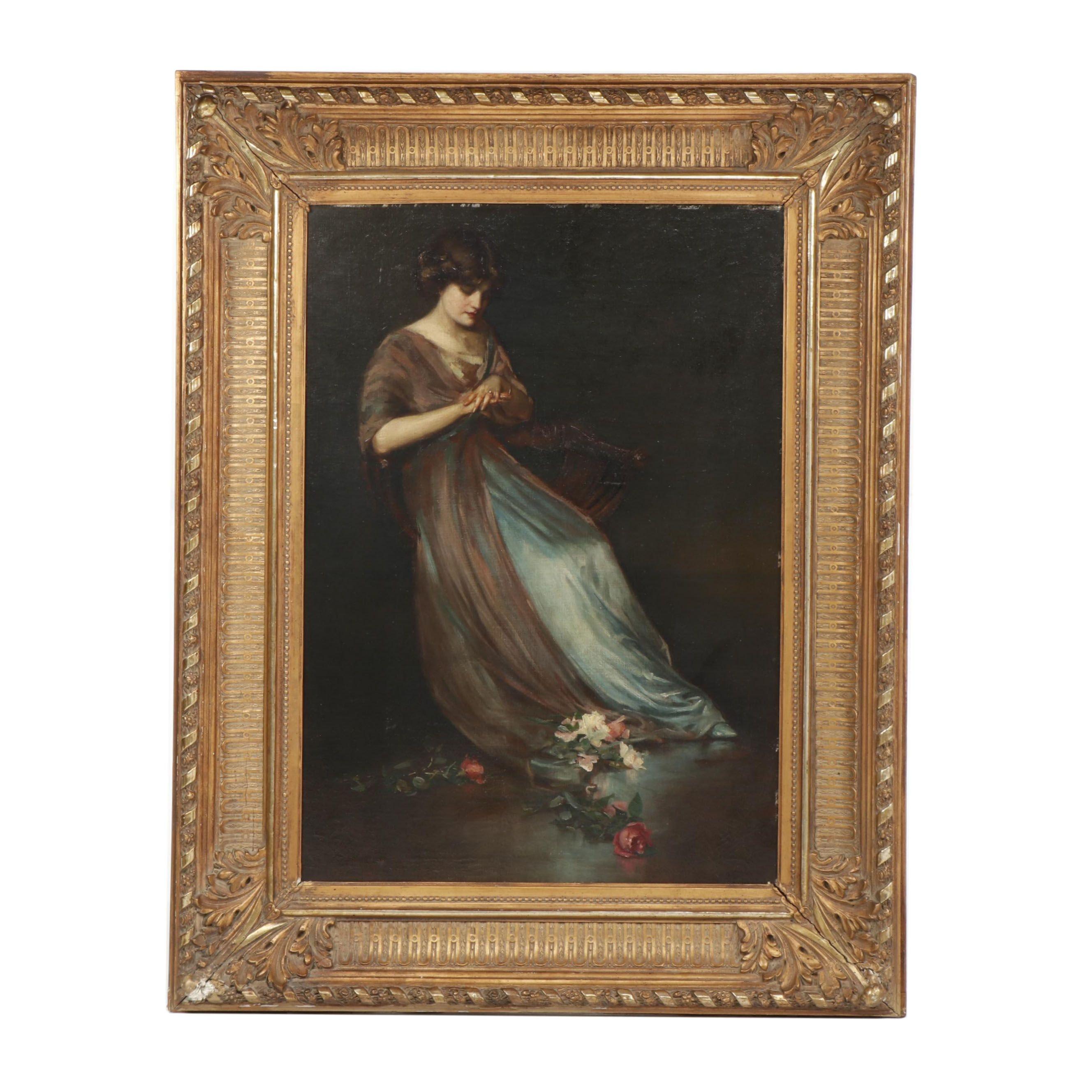 Z.P. Nikolaki Oil Painting of a Woman