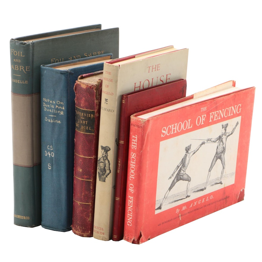 Vintage to Antique Books on Fencing and Dueling