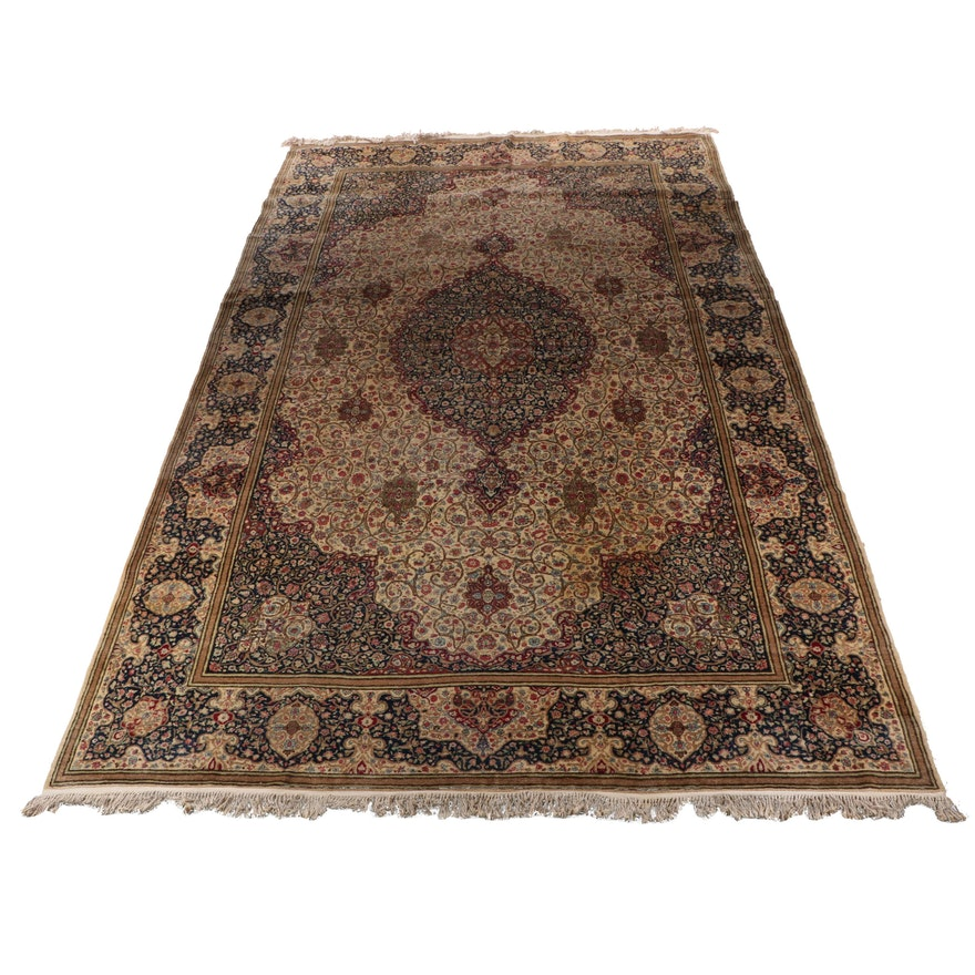 Hand-Knotted Kashmir Wool Area Rug