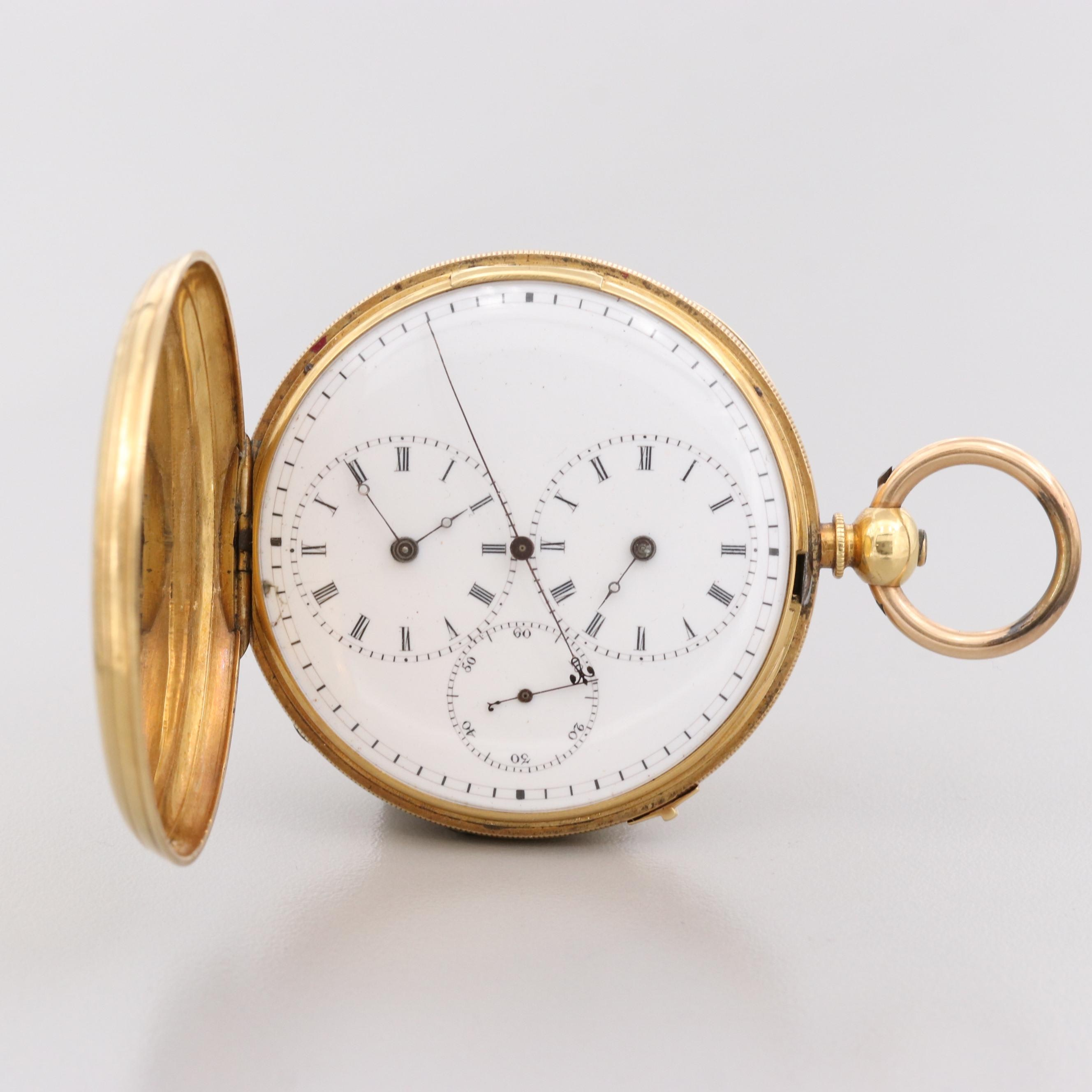 18K Yellow Gold Captain's Pocket Watch
