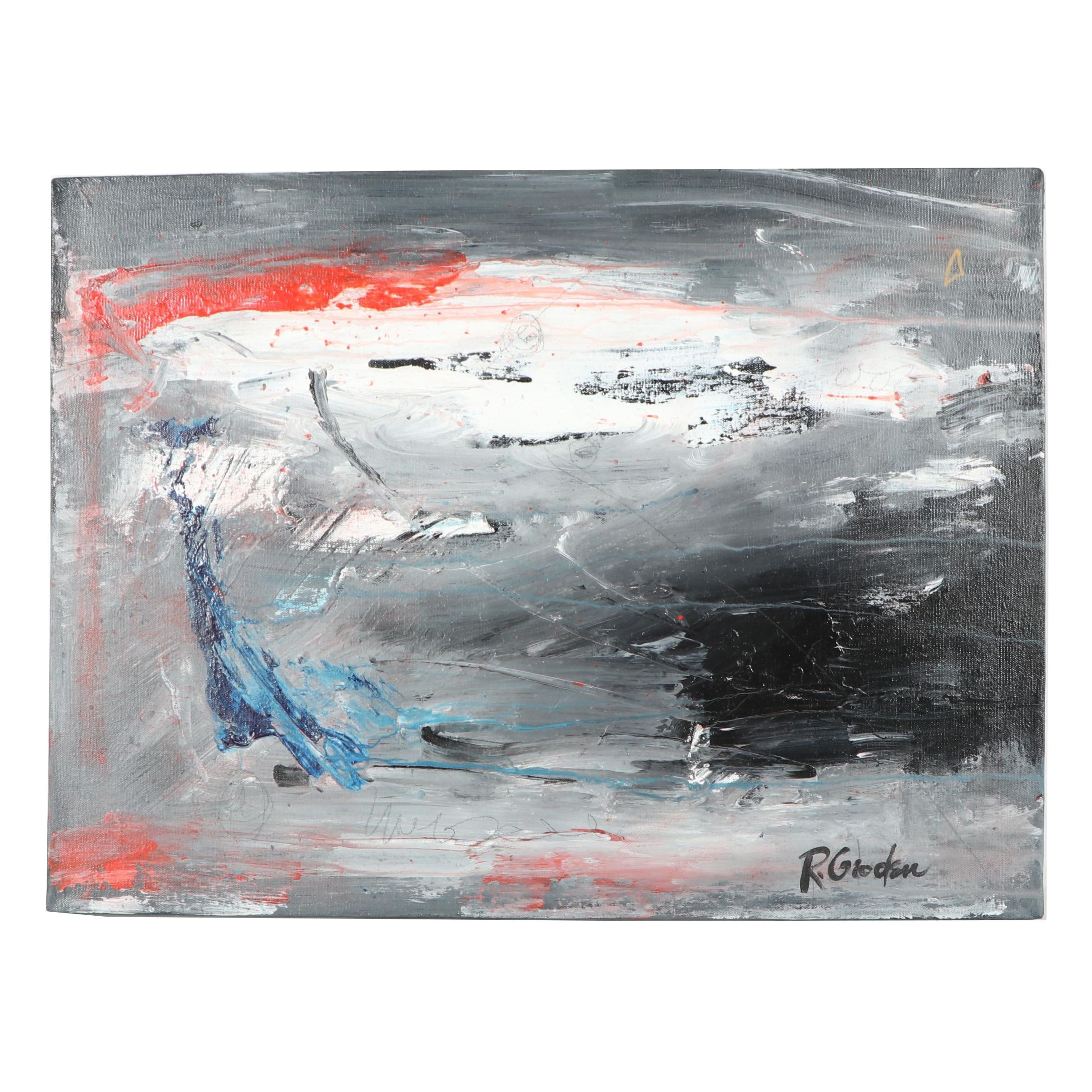 """Randy Groden Abstract Mixed Media Painting """"Heraklion"""""""