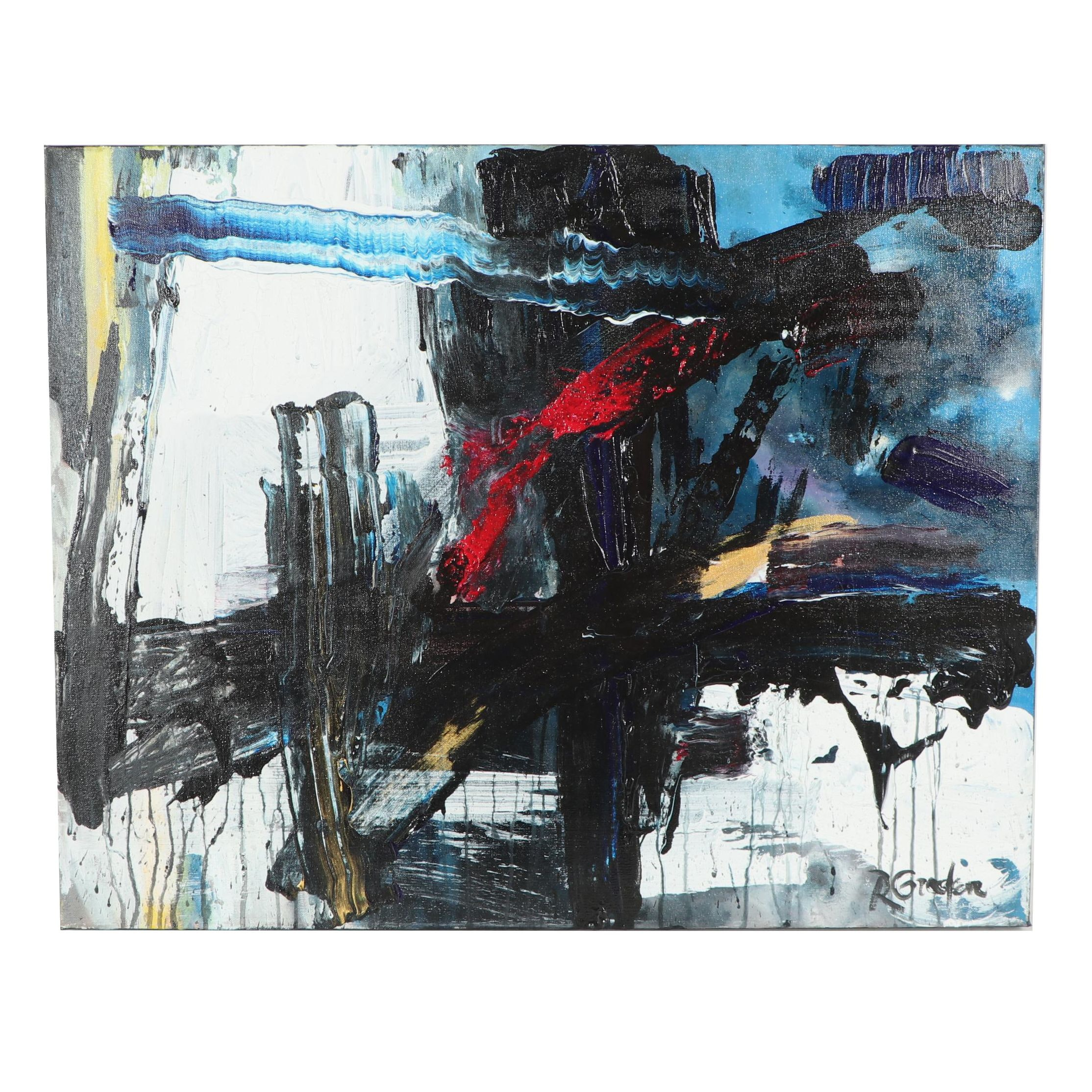 """Randy Groden Abstract Mixed Media Painting """"Looking Ahead"""""""