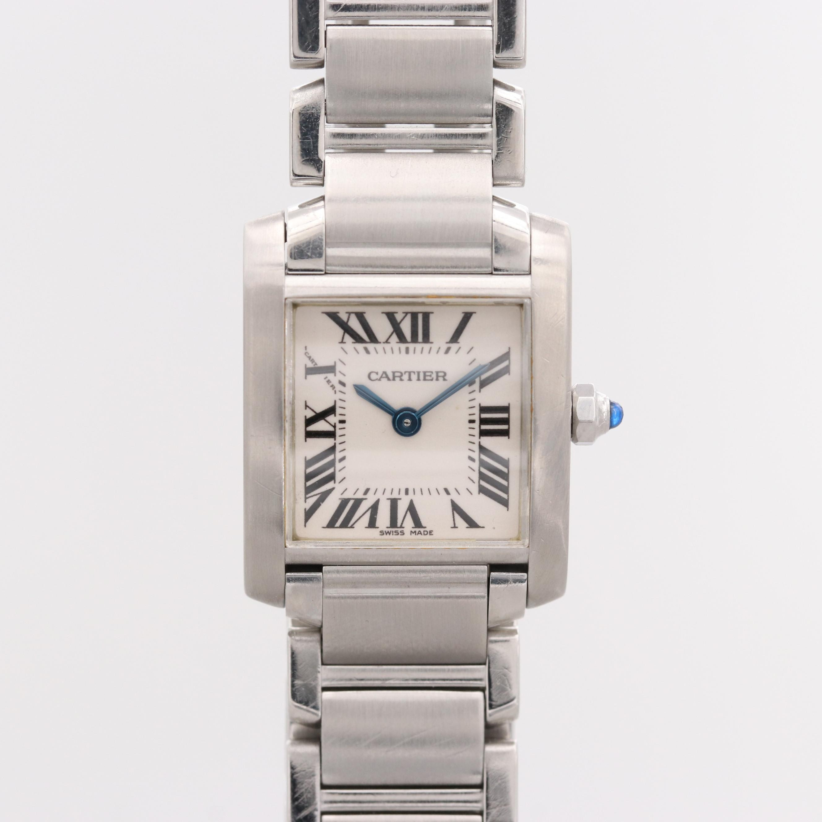 Cartier Tank Française Stainless Steel Wristwatch