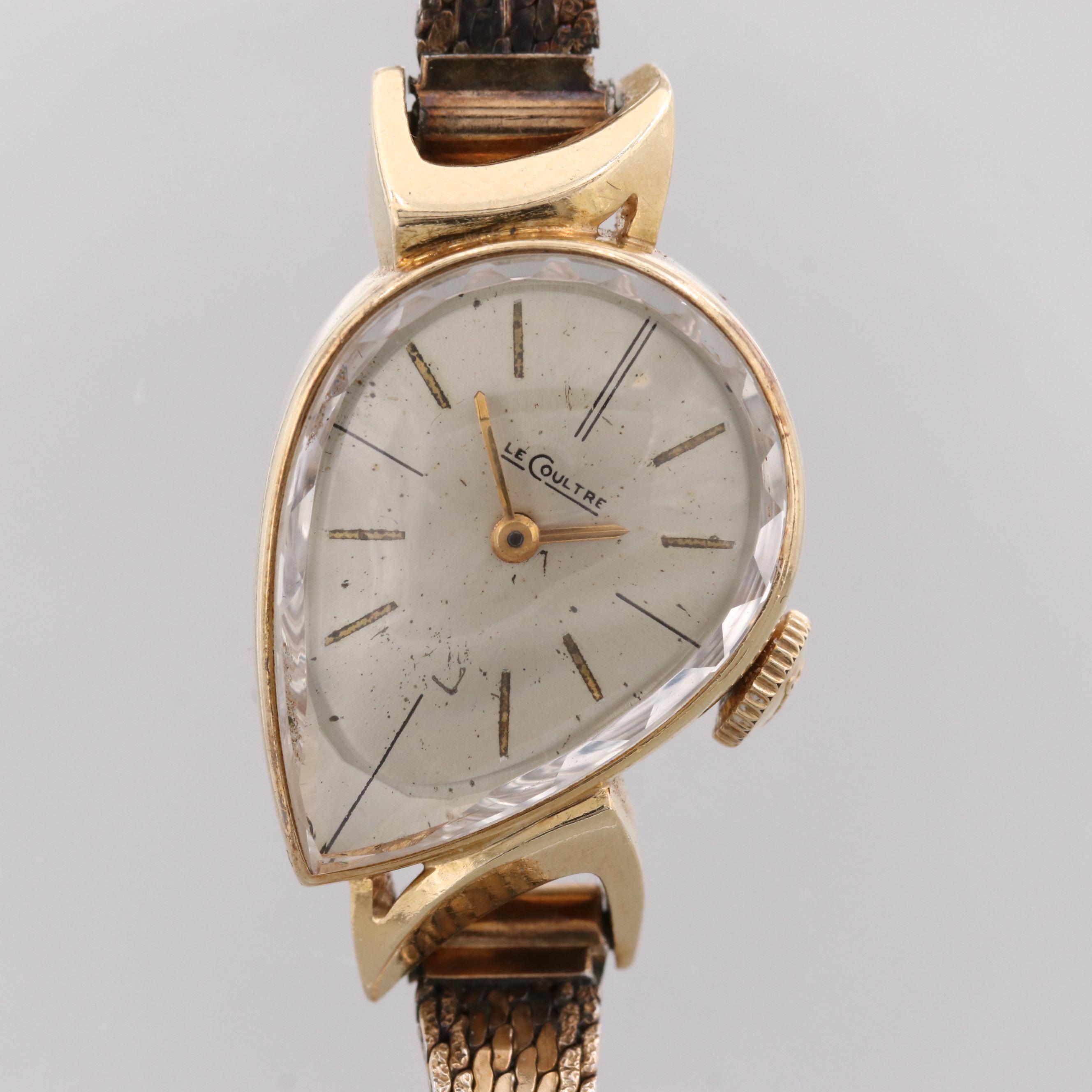 LeCoultre 14K Yellow Gold Pear Shaped Case Wristwatch