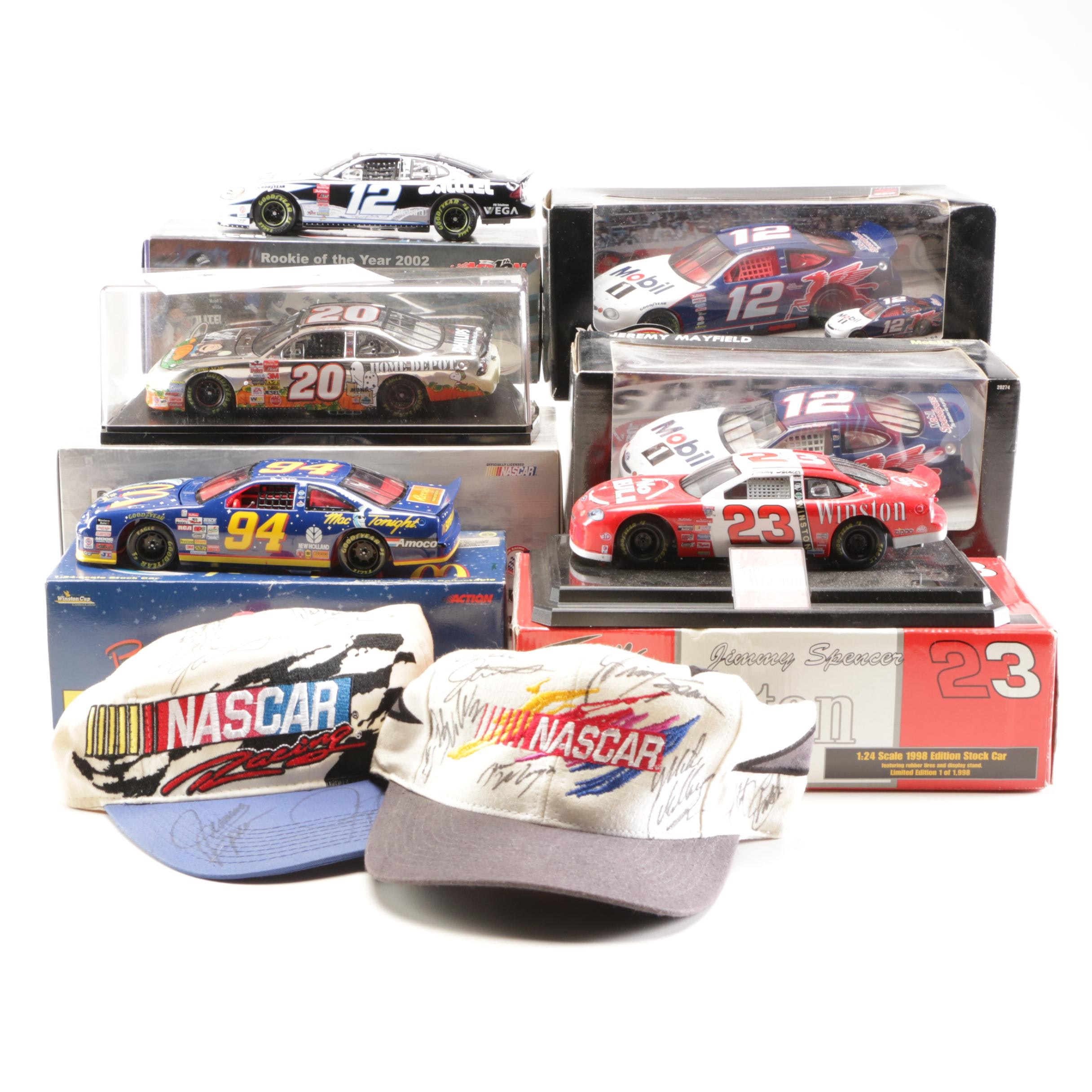 Nascar Collectibles Including Tony Stewart Platinum Series Car and Autographs