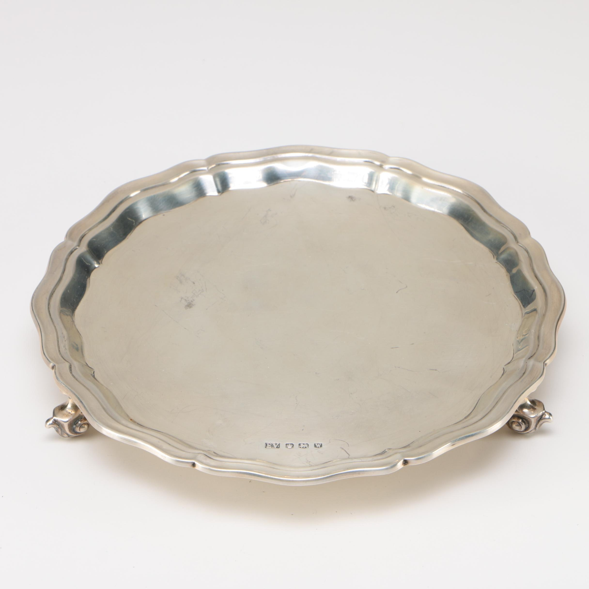 20th Century Elizabeth II Sterling Silver Salver