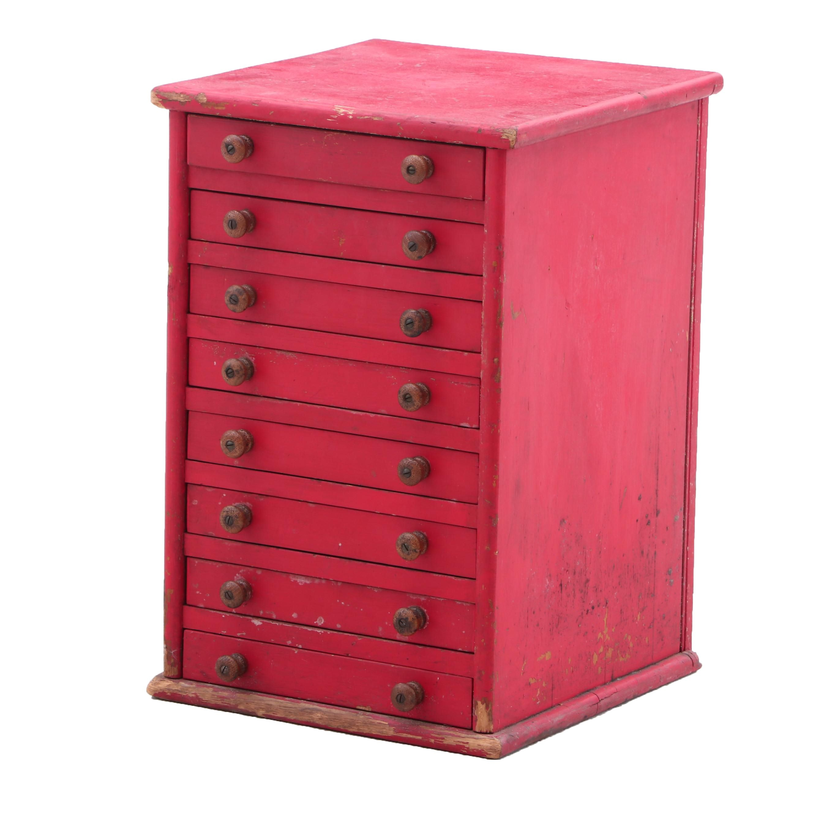 Vintage Machinist's Tabletop Chest of Drawers