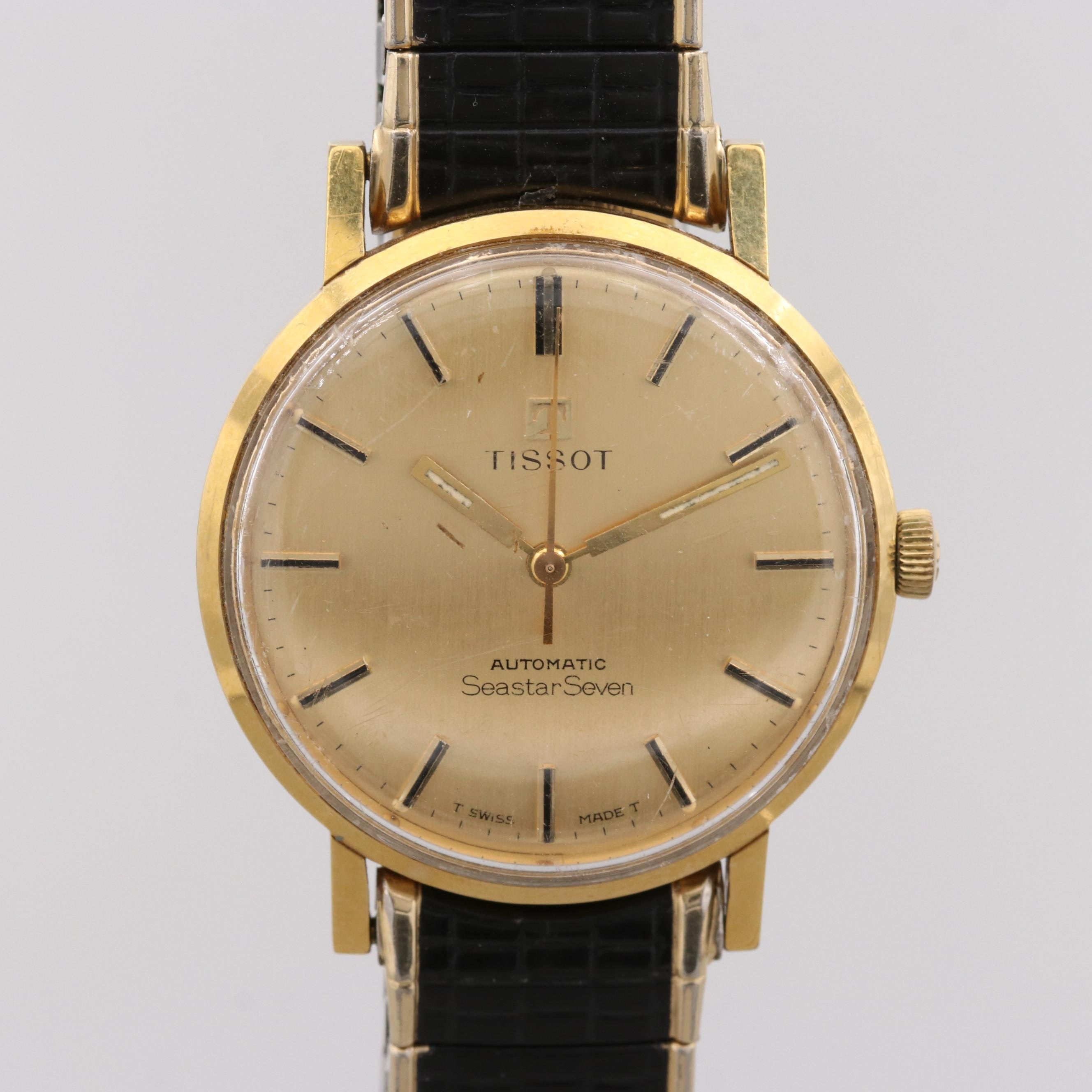 Tissot Seastar Seven Stainless Steel and Gold Wash Automatic Wristwatch