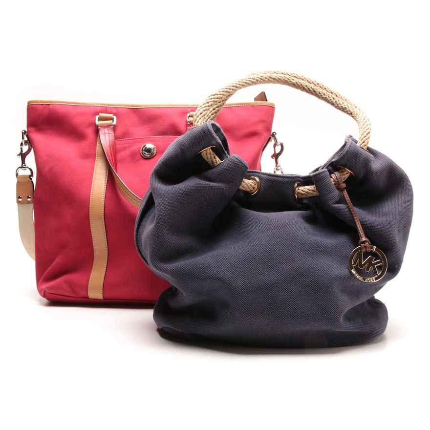 Coach Voyage Red Canvas Tote Bag and MICHAEL Michael Kors Canvas Tote   EBTH 3ce5ba9a91