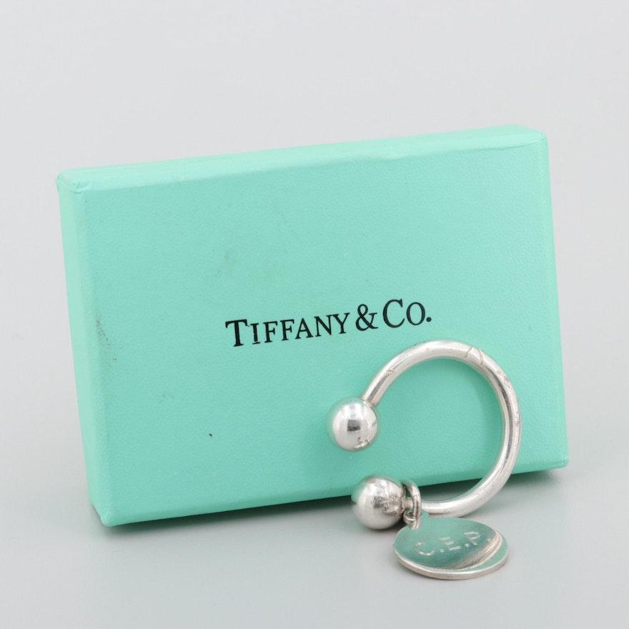 1d15fa117 Tiffany & Co. Sterling Silver Round Tag Key Ring : EBTH