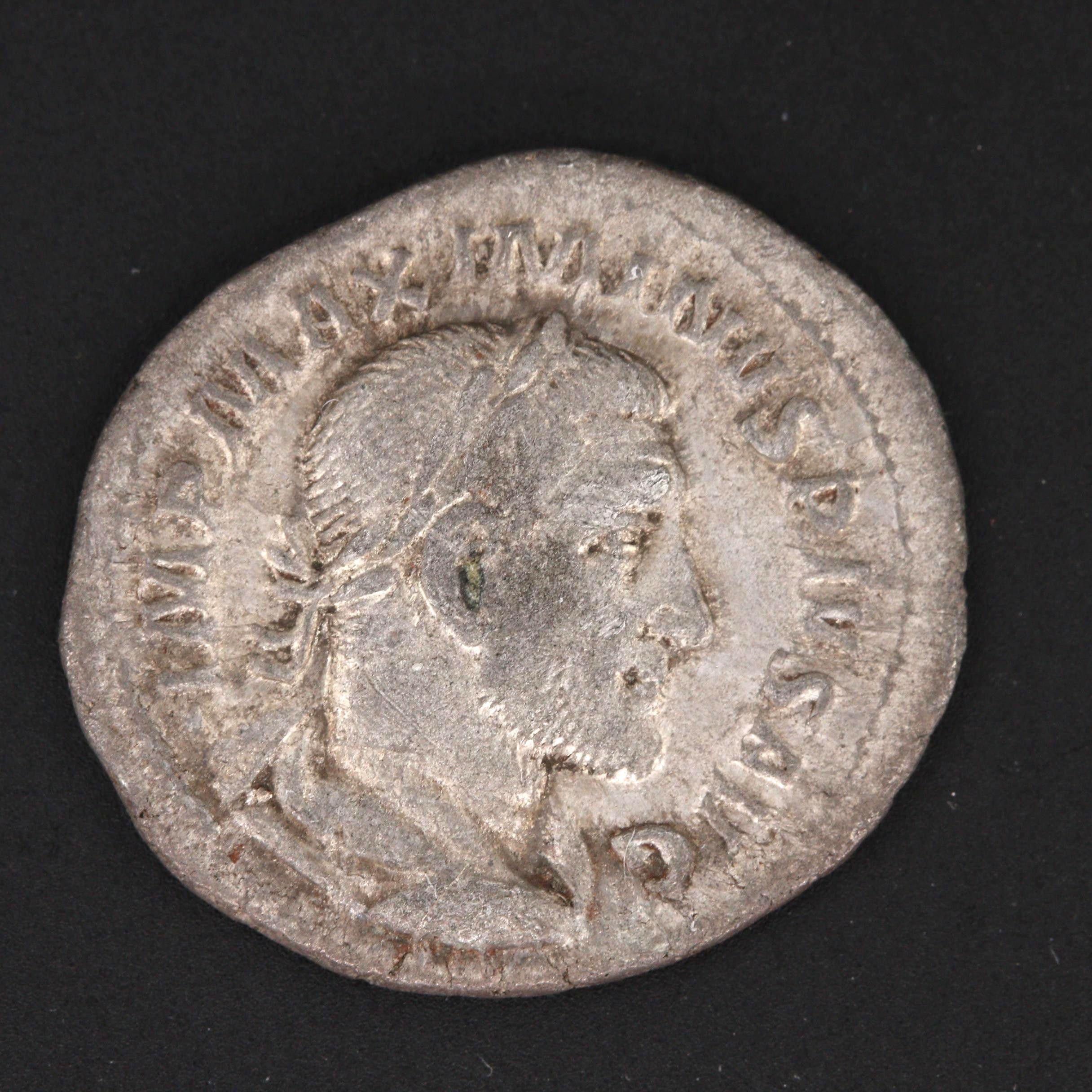 Ancient Roman Imperial Maximinus I AR Denarius, ca. 235 A.D.