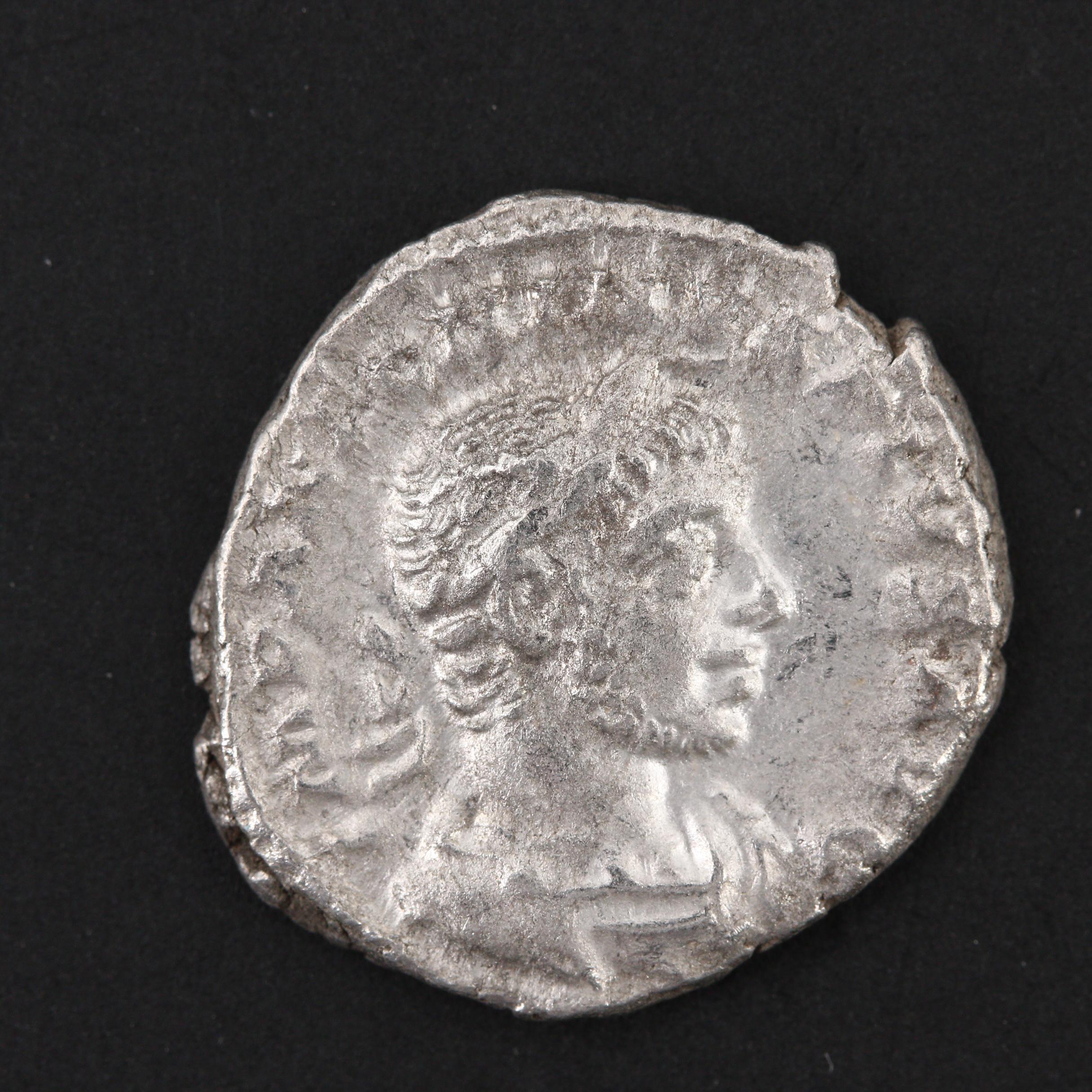 Ancient Roman Imperial Elagabalus AR Denarius, ca. 221 A.D.