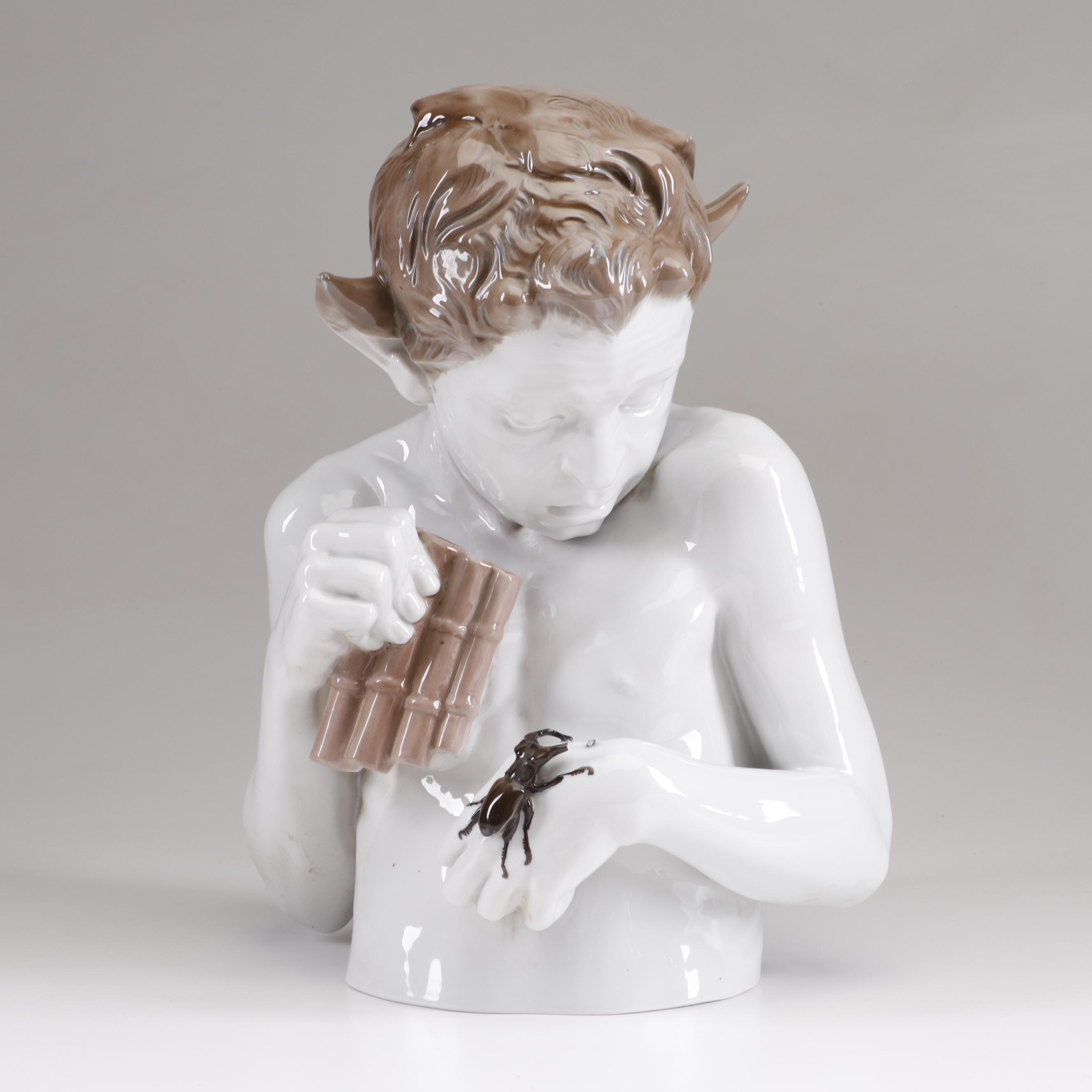 """Ferdinand Liebermann Porcelain Sculpture for Rosenthal """"Schreck"""""""