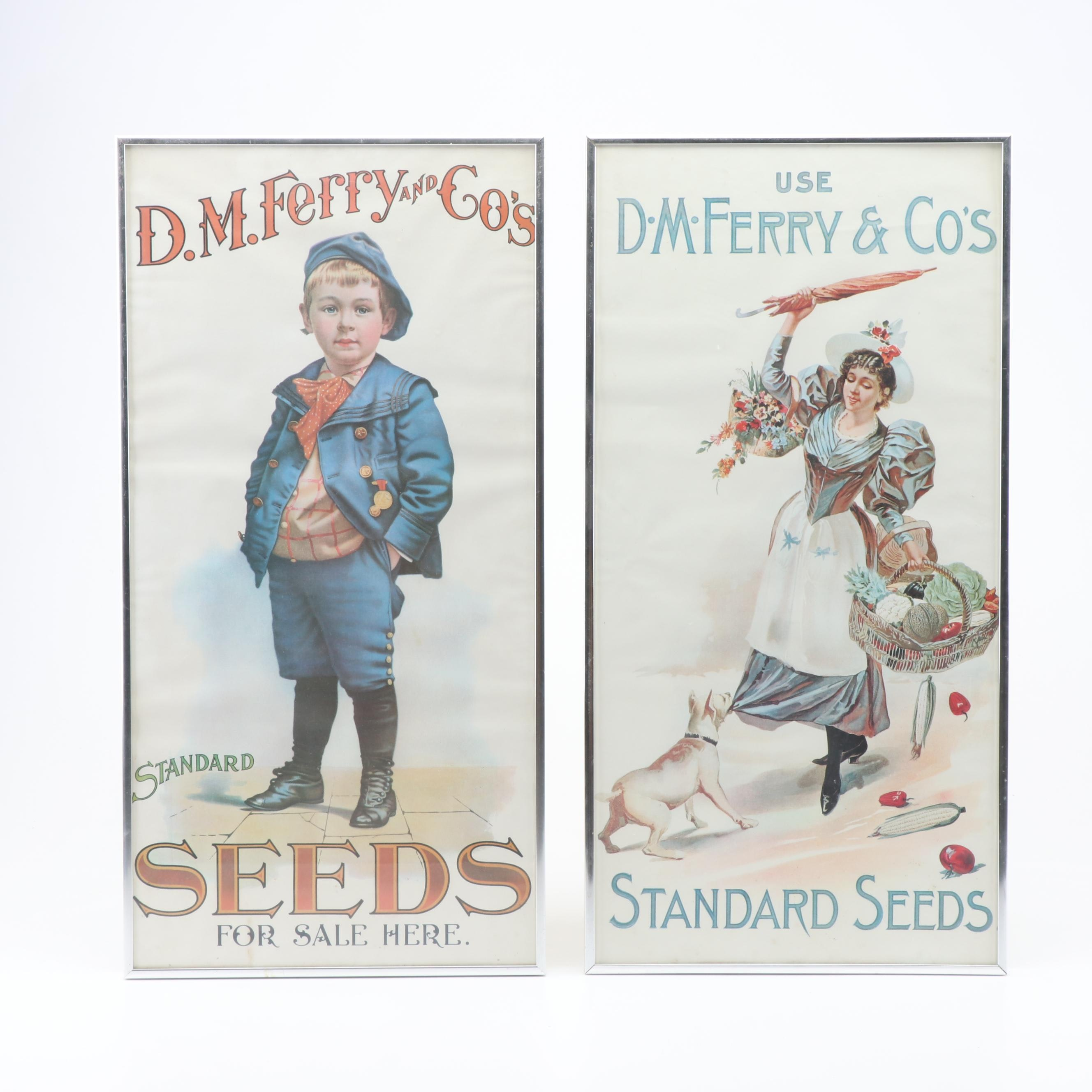 """Offset Lithographs Advertising D.M. Ferry and Co's """"Standard Seeds"""""""