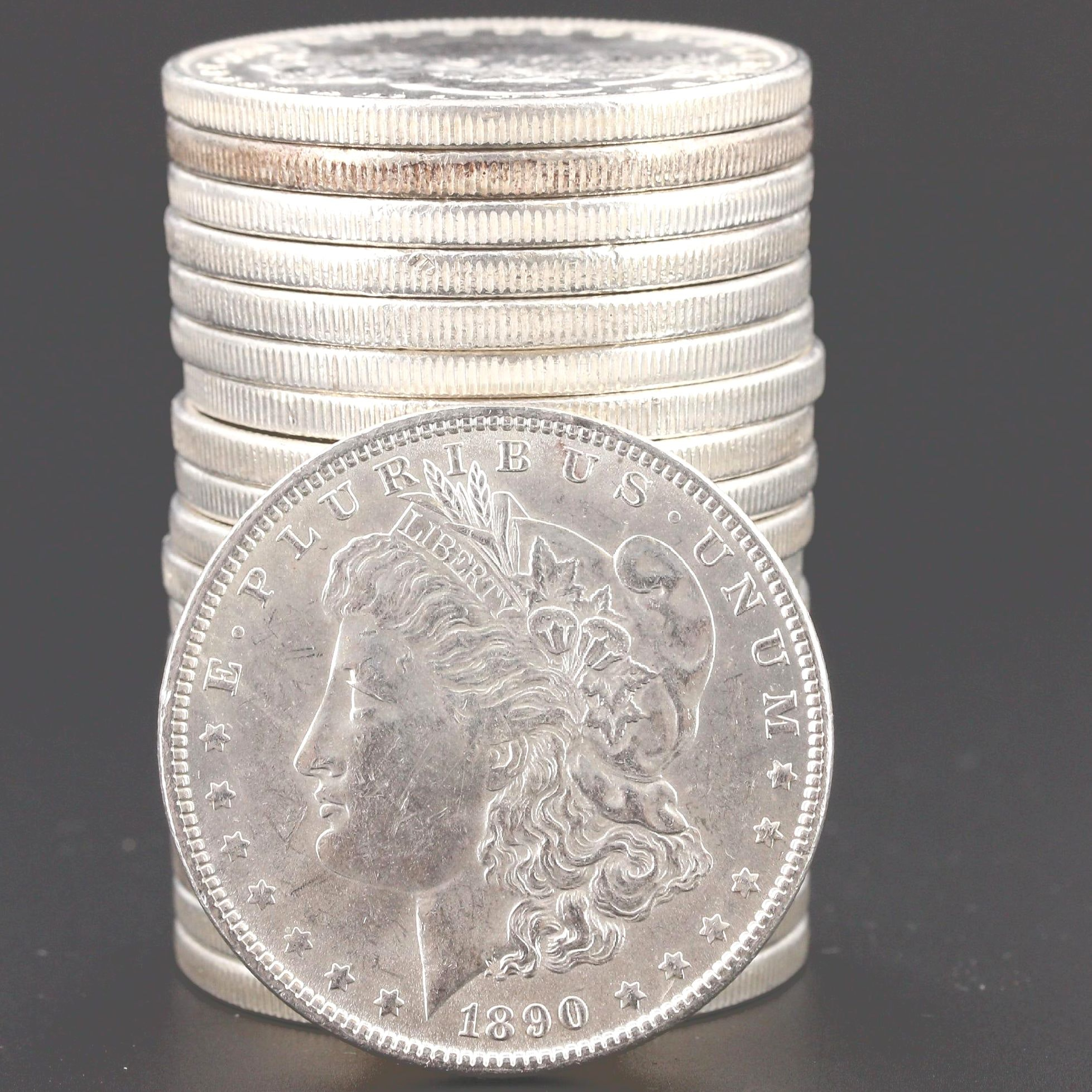 A Roll of Twenty Uncirculated 1890 Morgan Silver Dollars