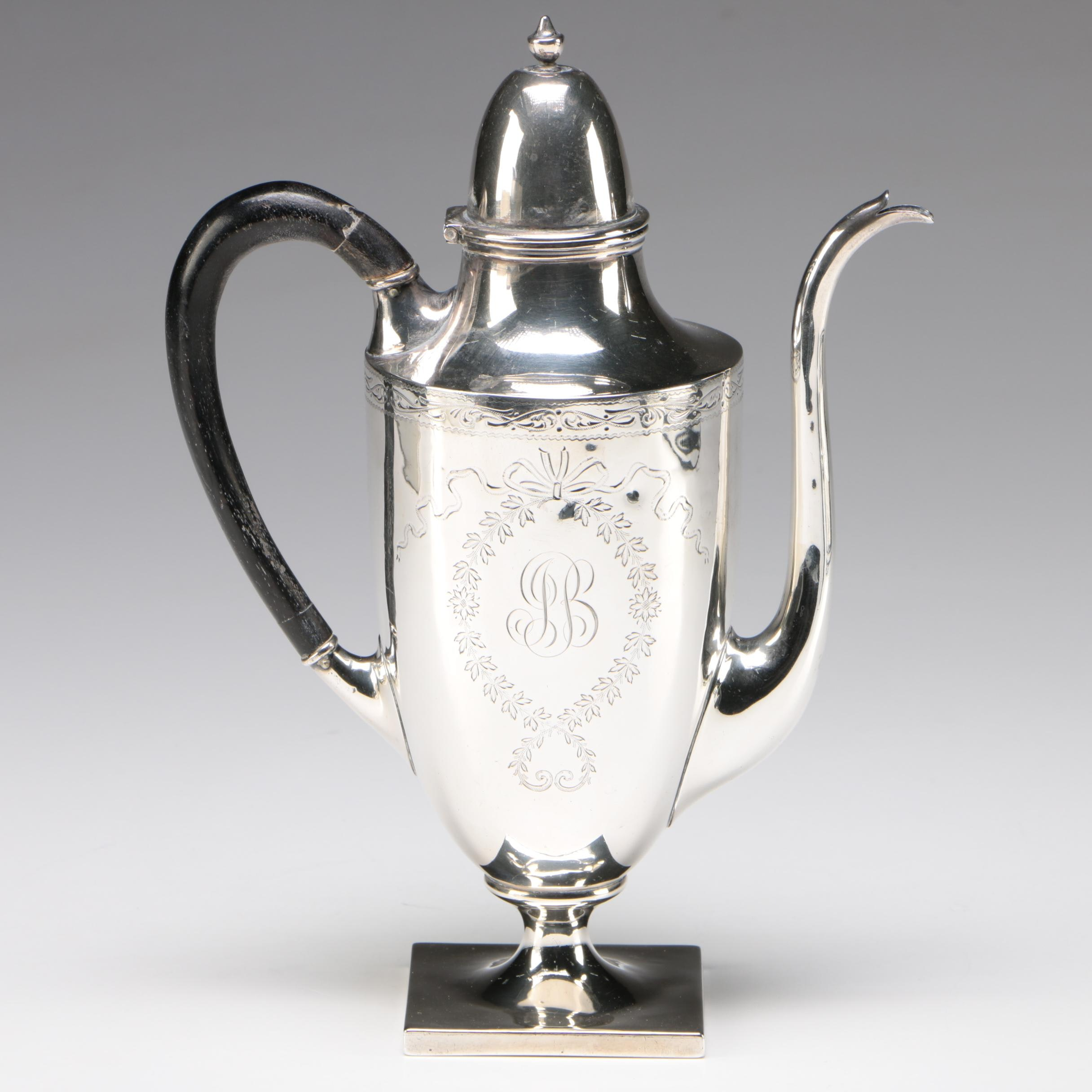 Towle & Co. Sterling Silver Coffee Pot Retailed by Shreve, Crump & Low, Boston