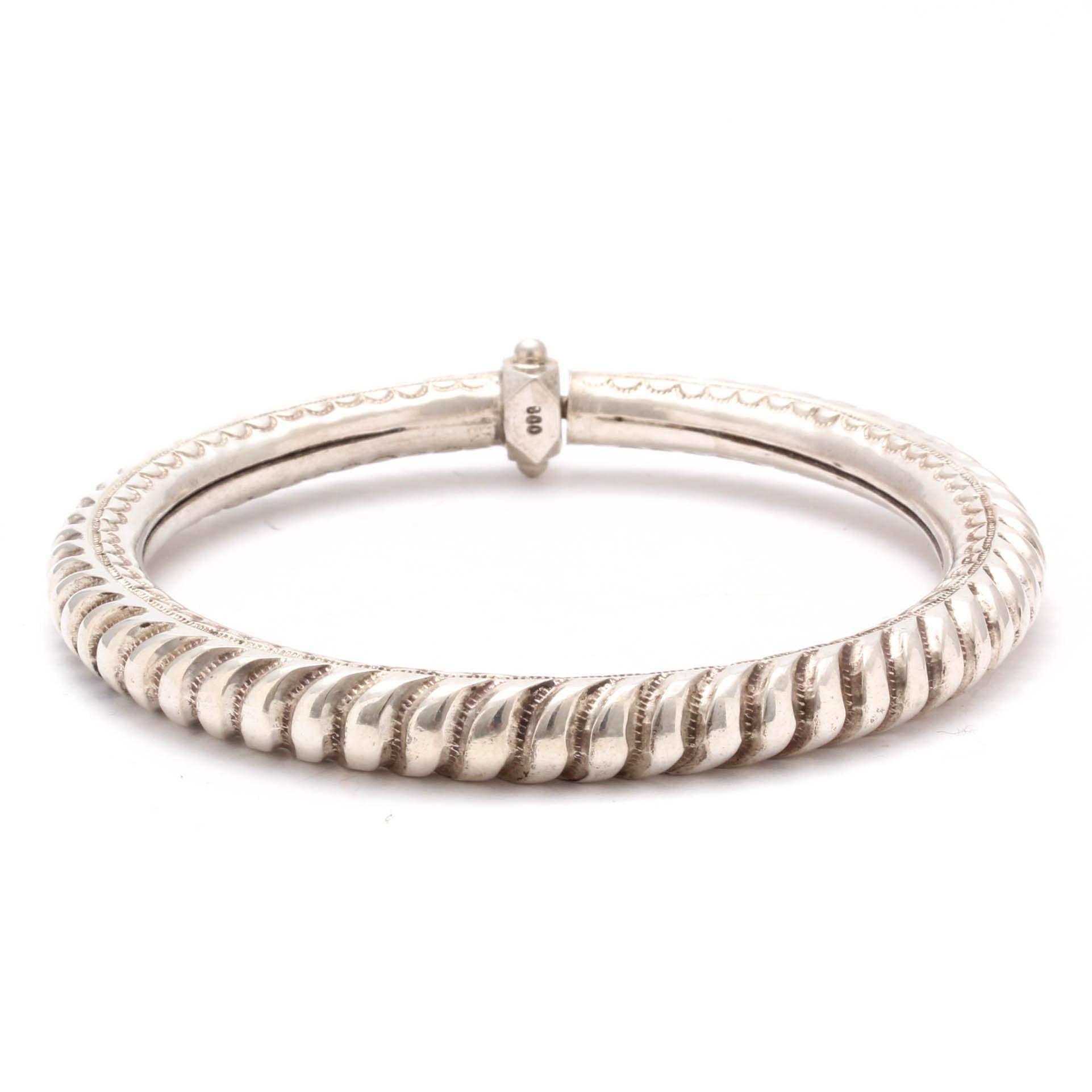 Vintage 800 Silver Twist-Open Bracelet