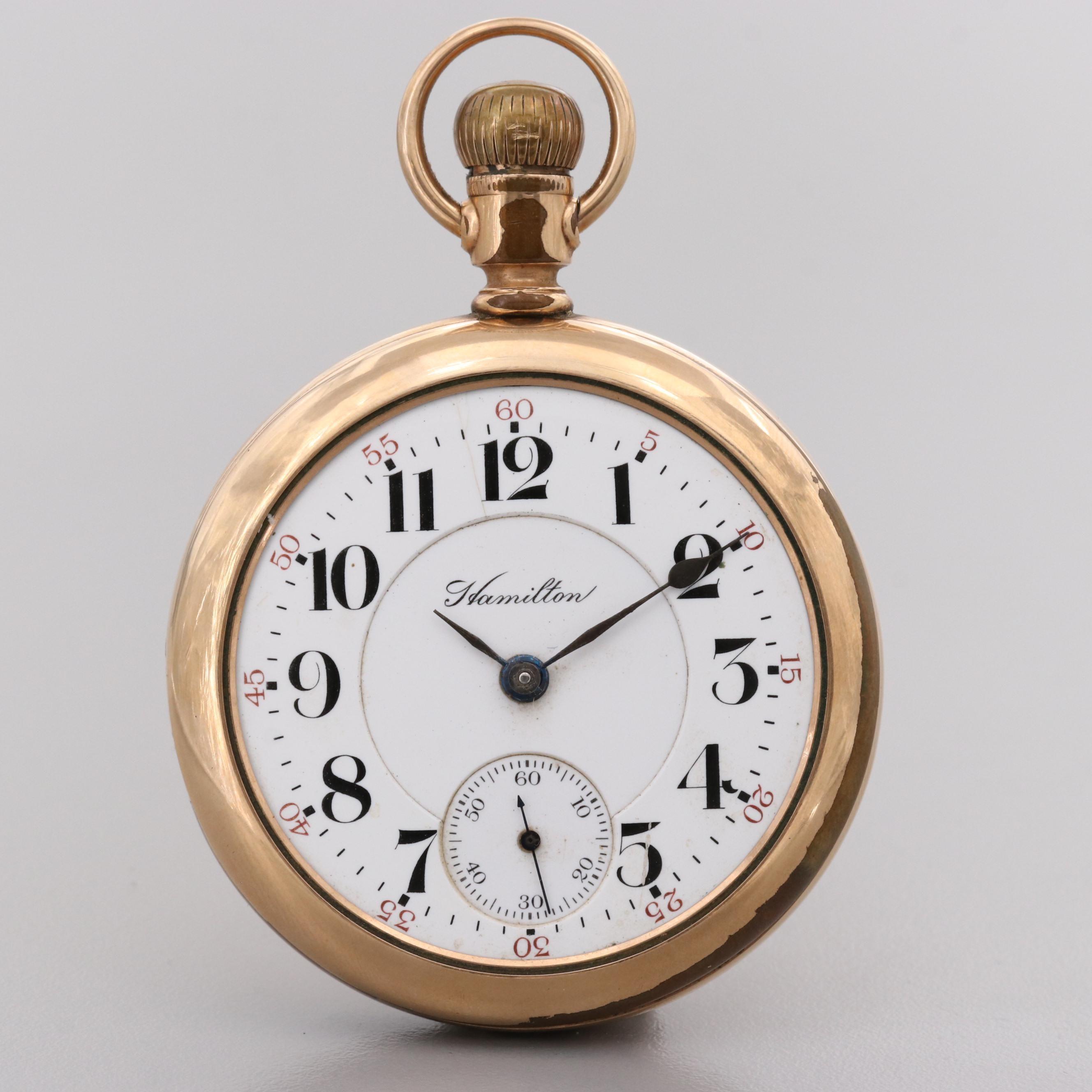 Hamilton Gold Filled Pocket Watch, 1912