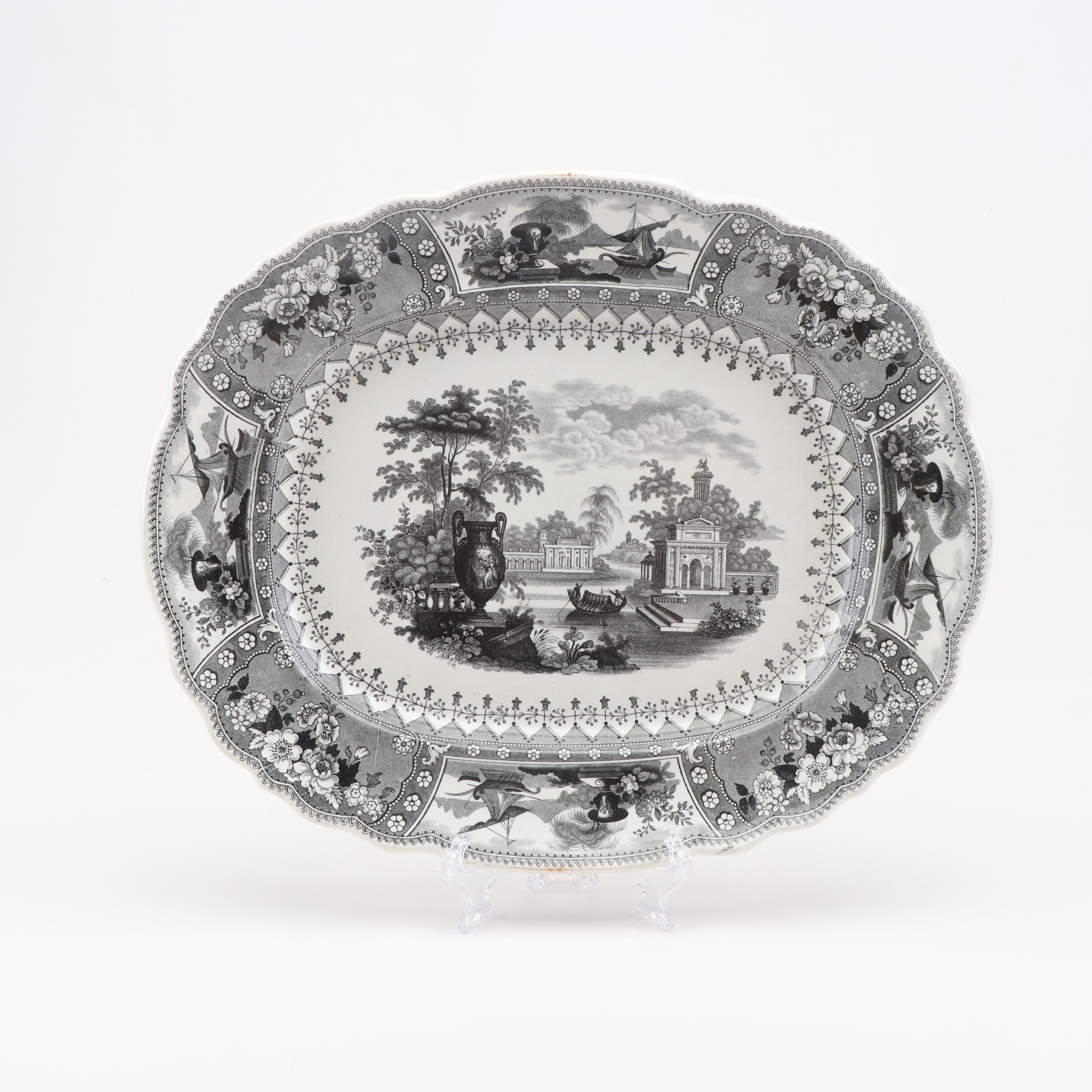 Canova Stoneware Platter, 19th Century
