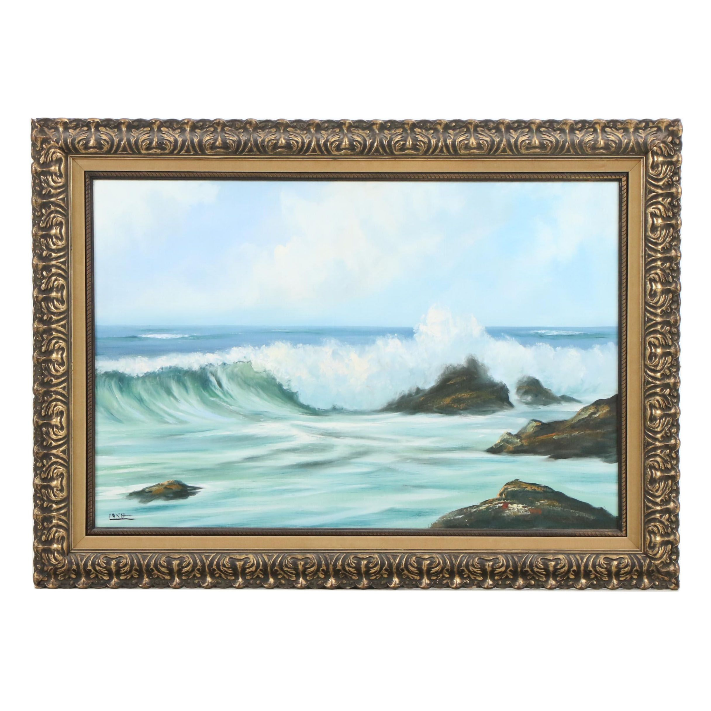 Long Oil Painting of Seascape