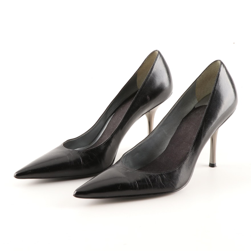 69496bb34eaf Women s Gianni Bini Black Calfskin Leather Pumps   EBTH