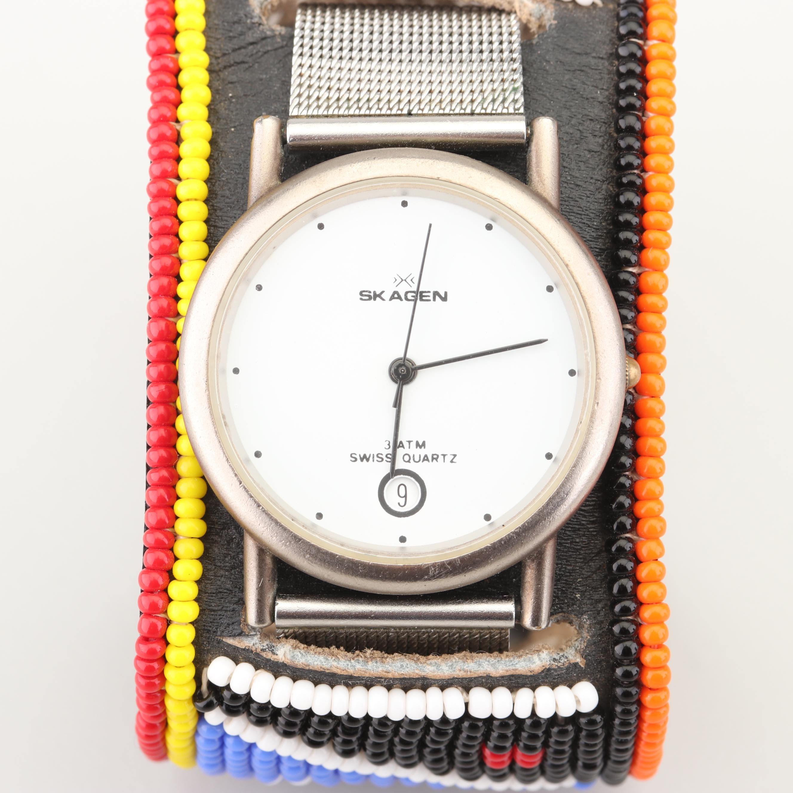 Skagen Wristwatch with Beaded Band