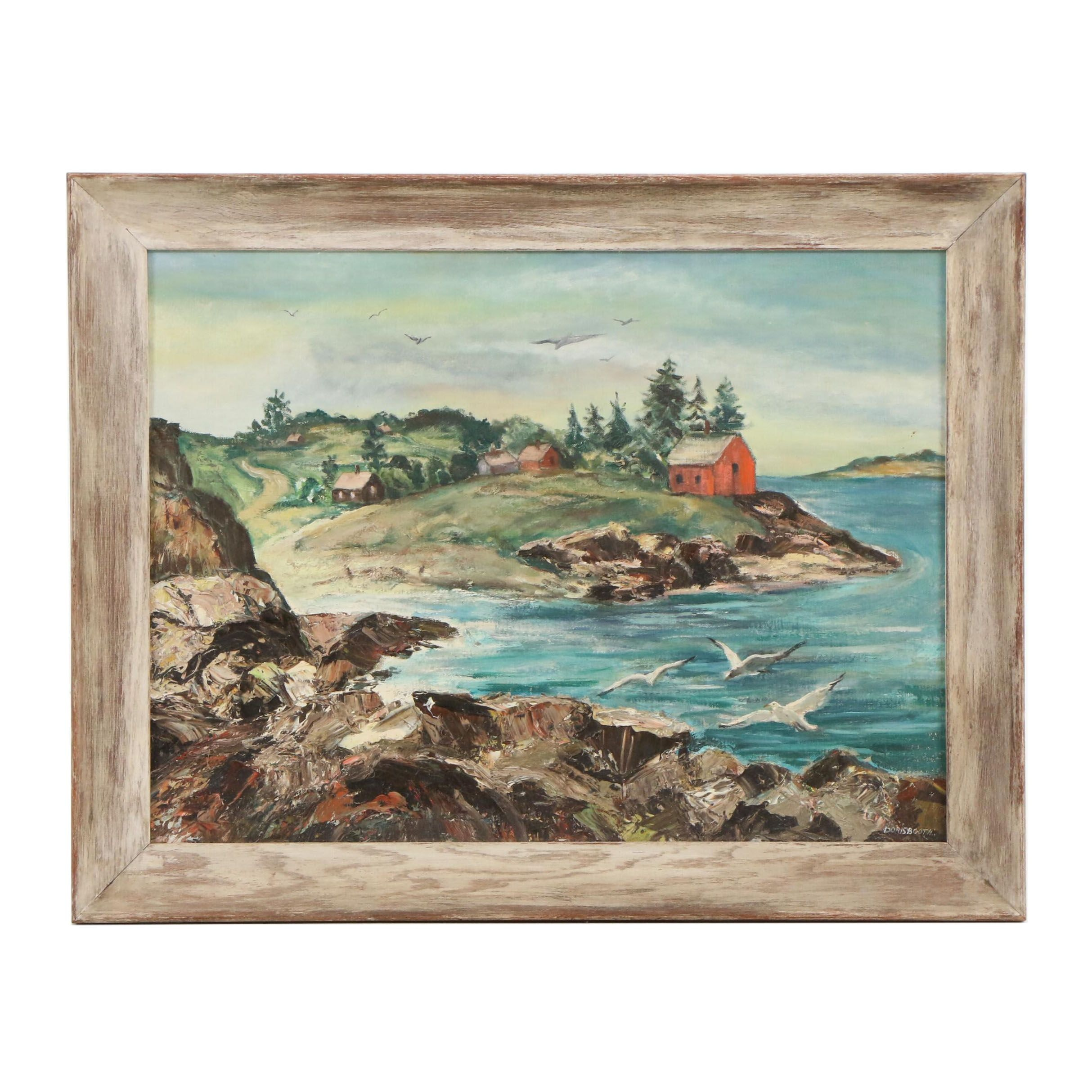Doris Booth Coastal Landscape Oil Painting