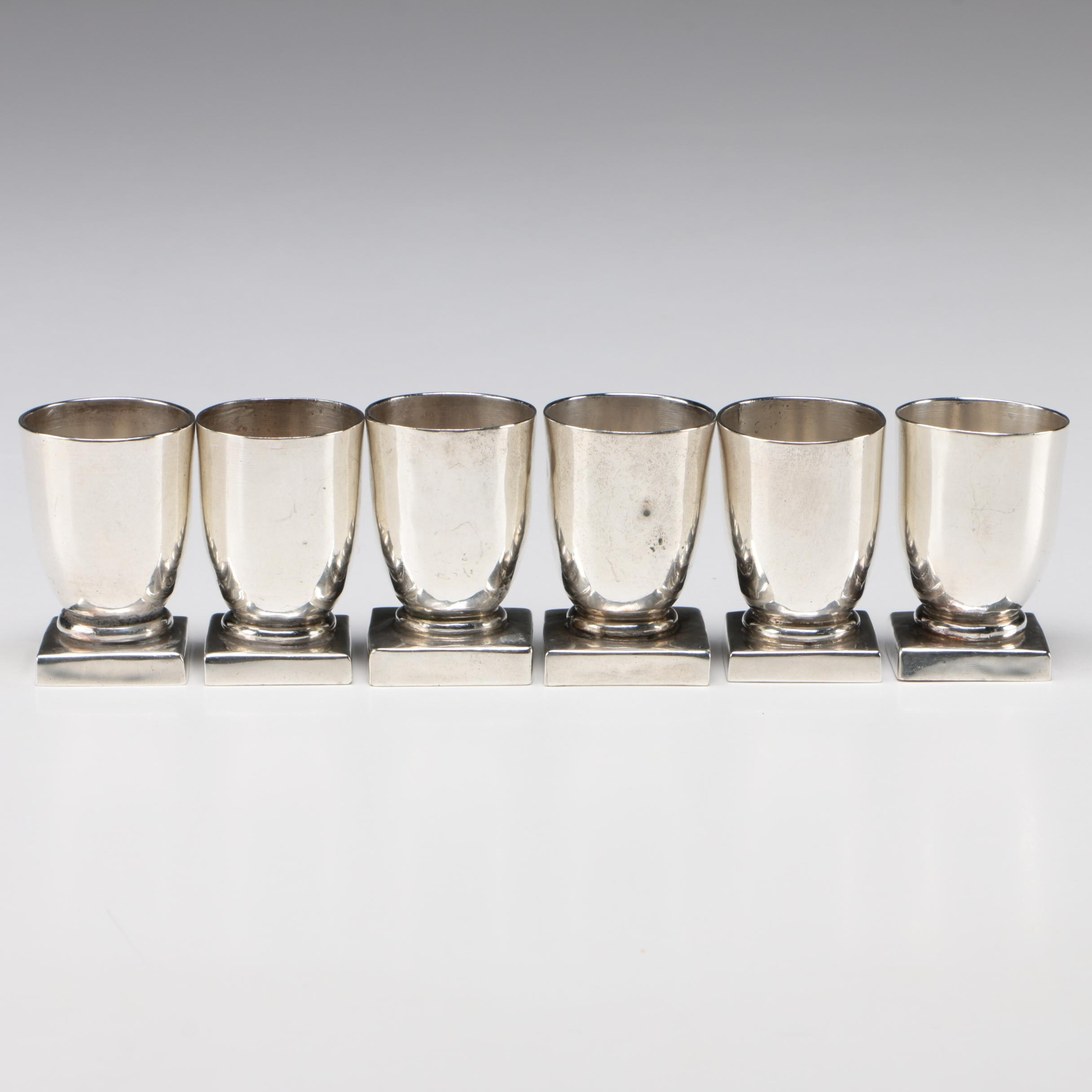 Mexican 20th Century William Spratling Sterling Silver Cordials, Set of Six