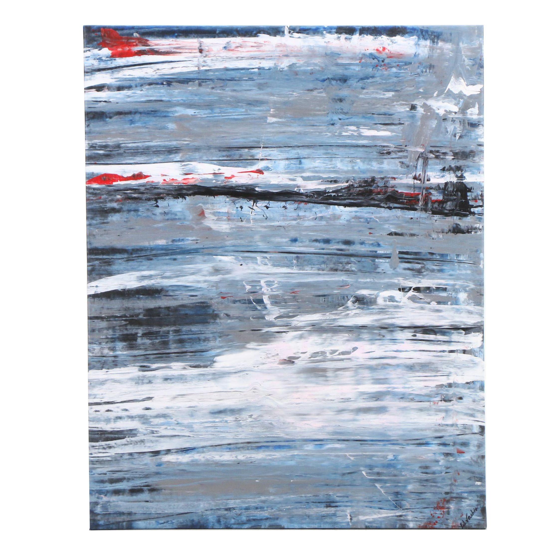 Aureo Del Vecchio Modern Abstract Acrylic Painting