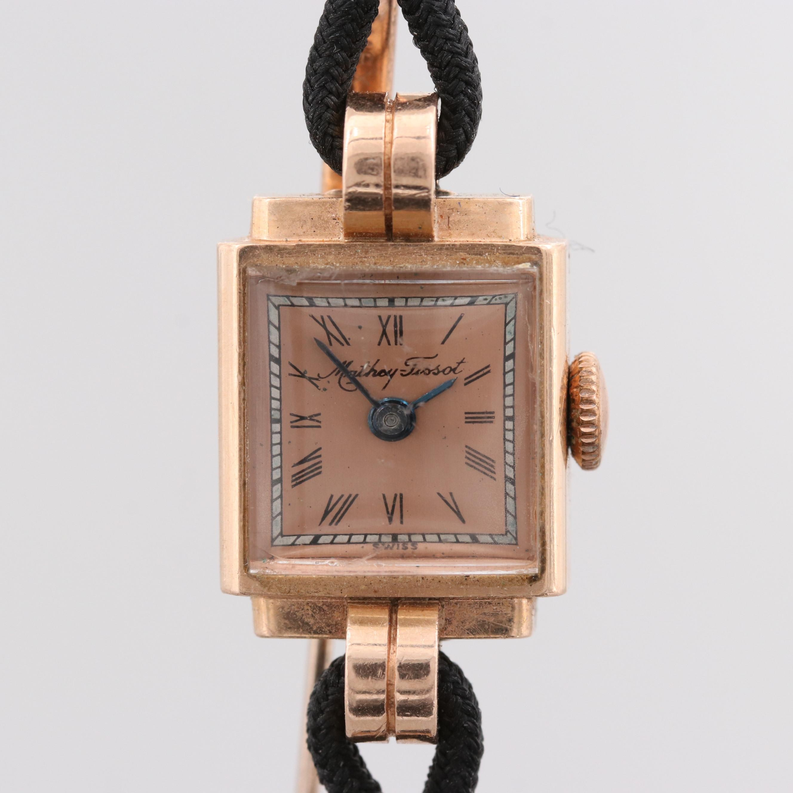 Mathey-Tissot 14K Rose Gold Wristwatch