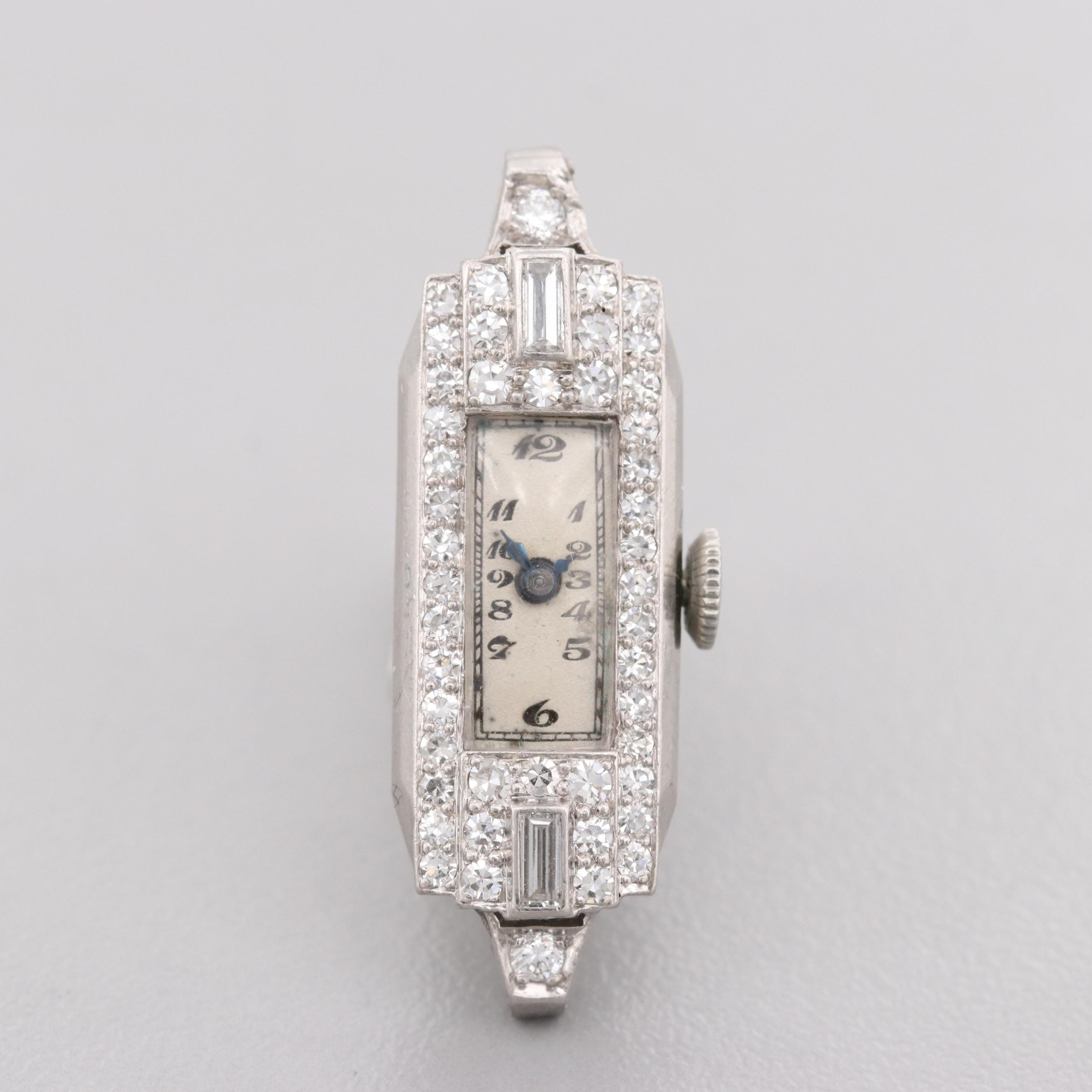 Concord Platinum Diamond Wristwatch