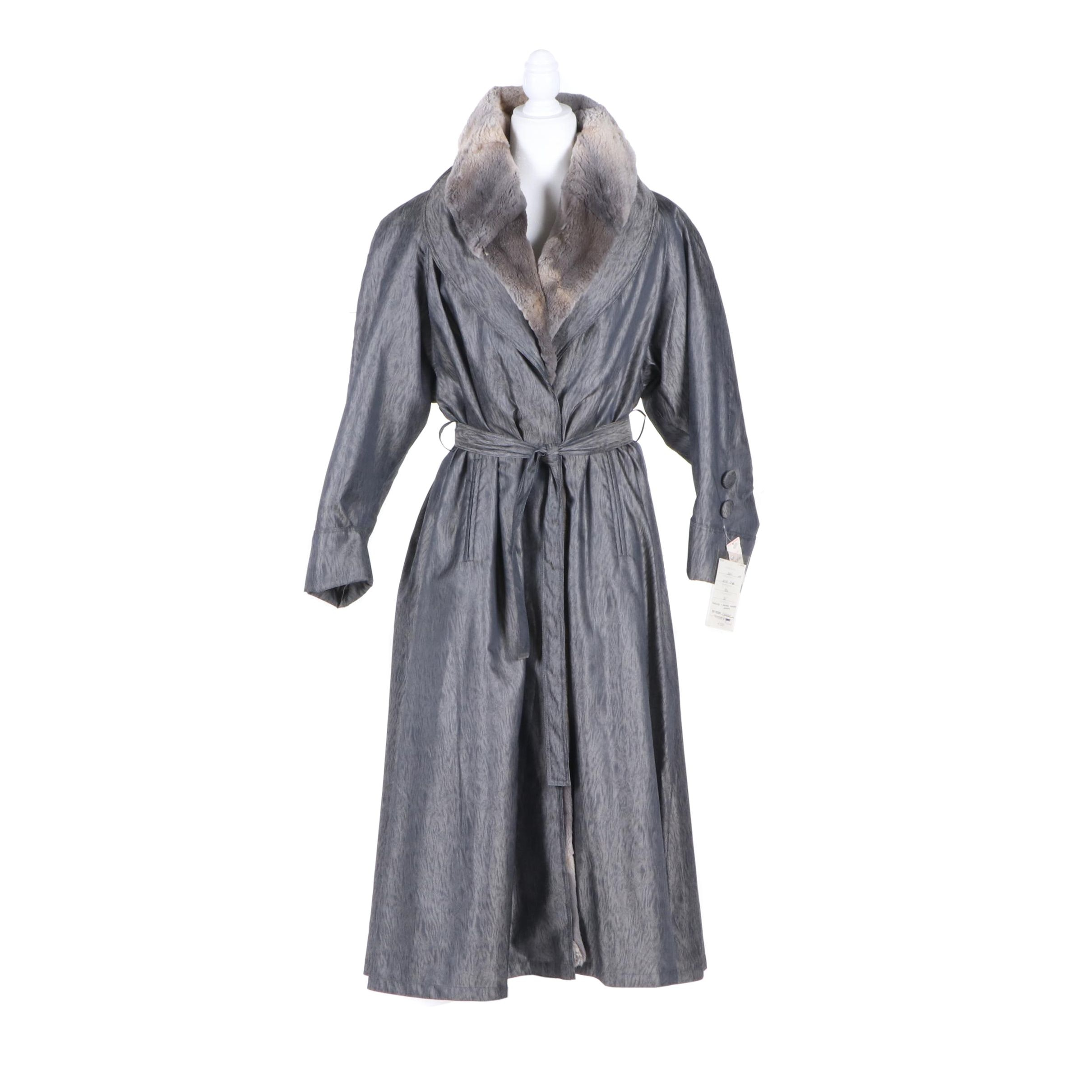 Women's McComber Sheared Muskrat Fur Lined Coat, Made in Finland