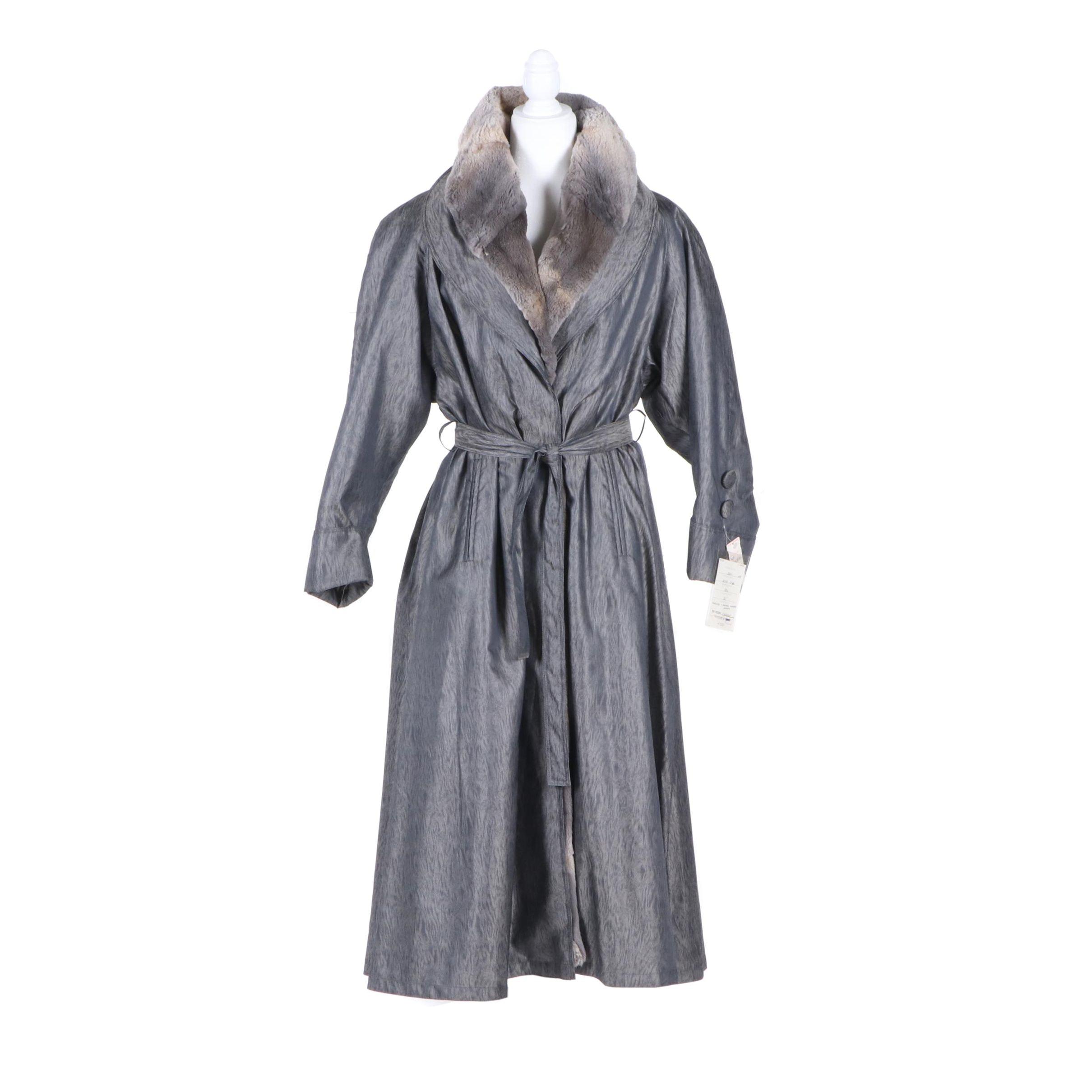 Women's McComber Sheared Muskrat Fur Lined Coat, Made in Finland