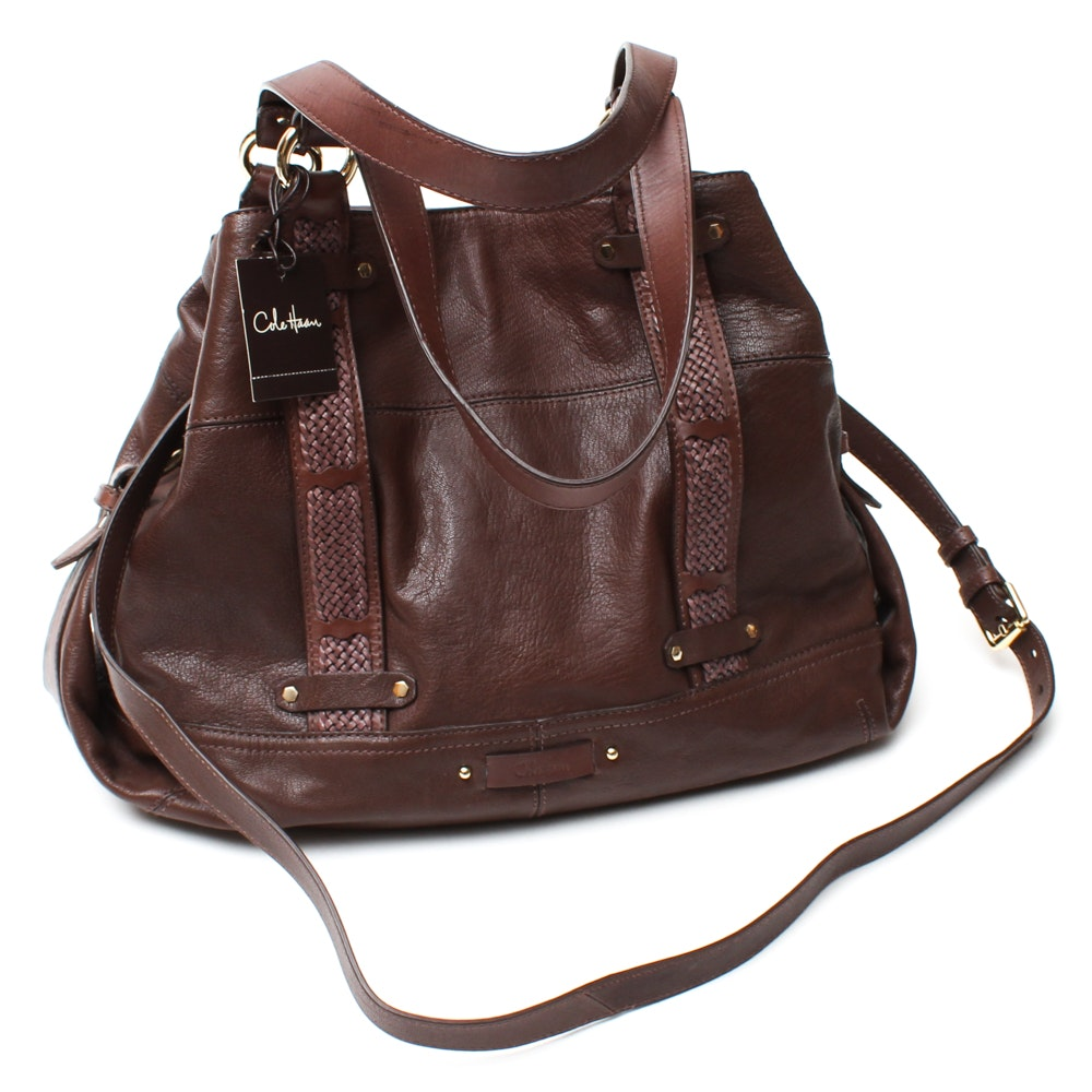 Cole Haan Grained Leather Shoulder Bag