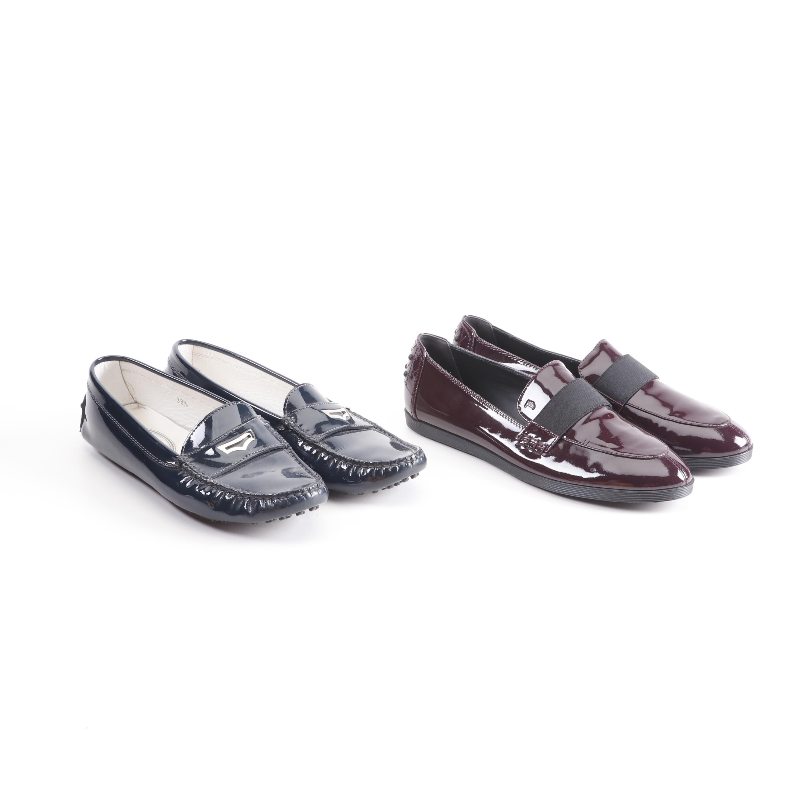 Women's Tod's Patent Leather Loafers, Made in Italy