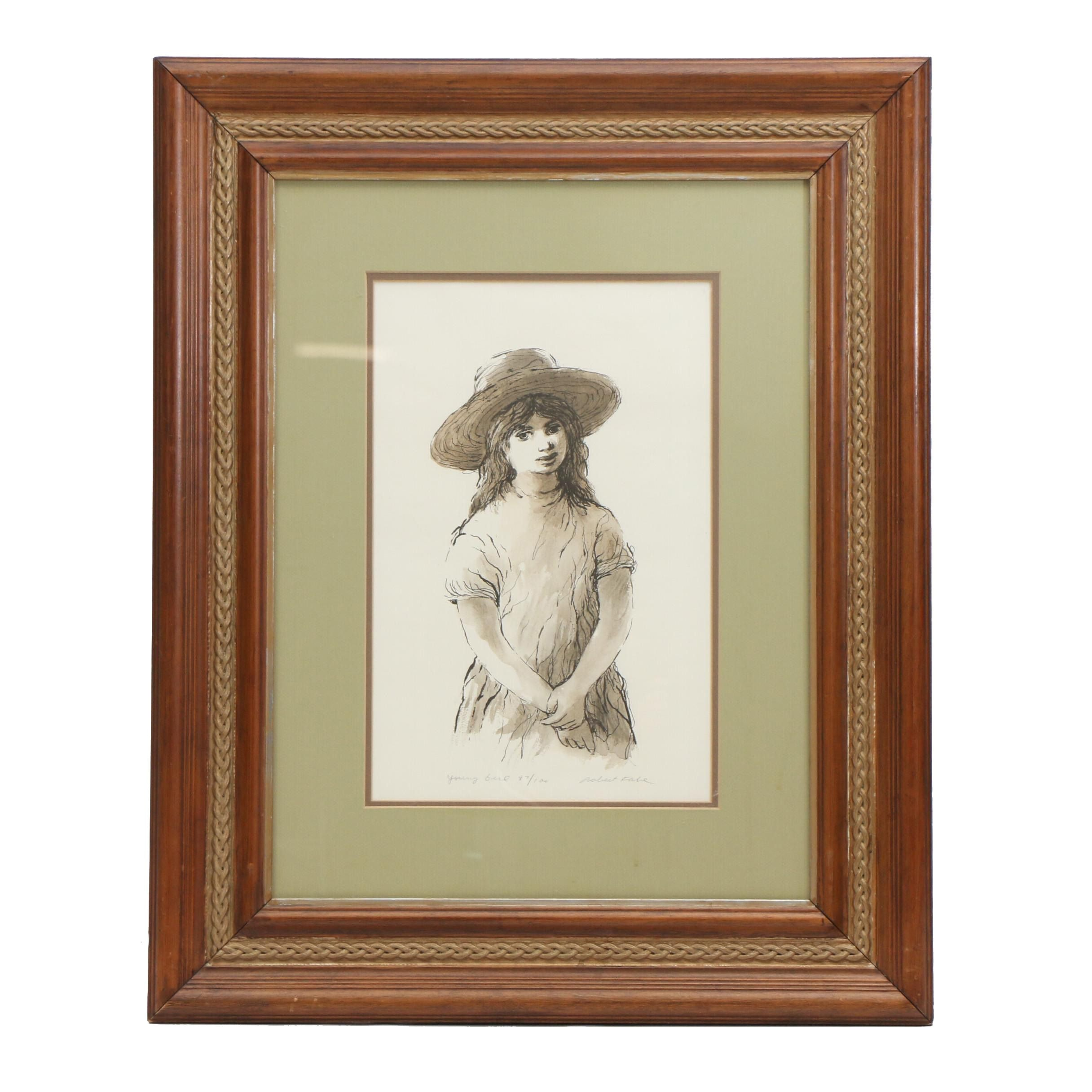 """Robert Fabe Limited Edition Offset Lithograph """"Young Girl"""""""
