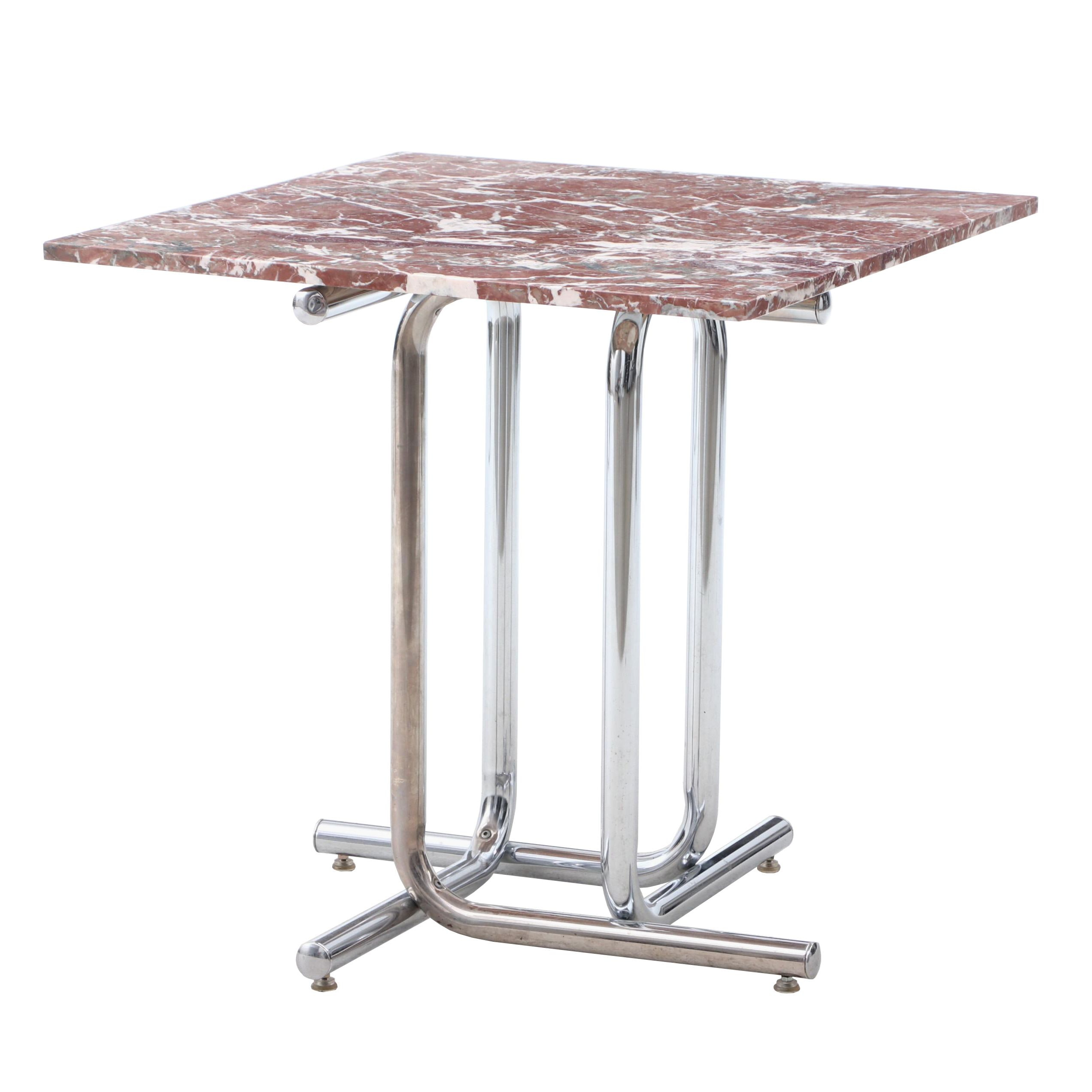 Rouge Marble Top Side Table Made in Belgium