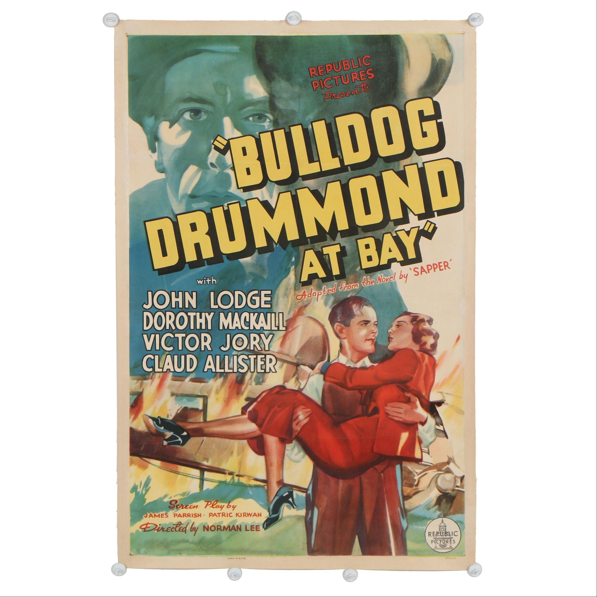 """""""Bulldog Drummond at Bay"""" One Sheet Movie Poster, 1937"""