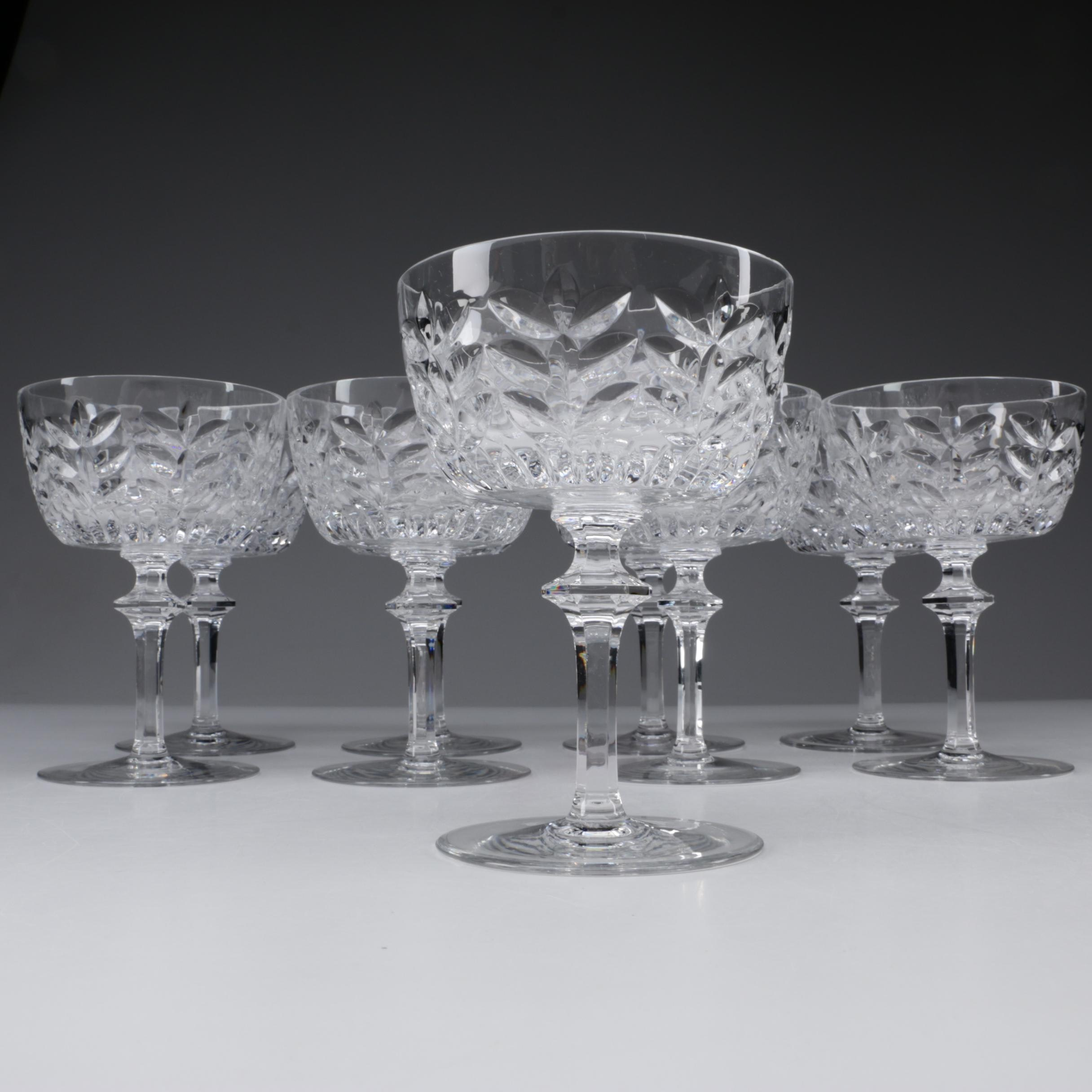"Gorham Crystal ""Strasbourg"" Champagne Coupes"