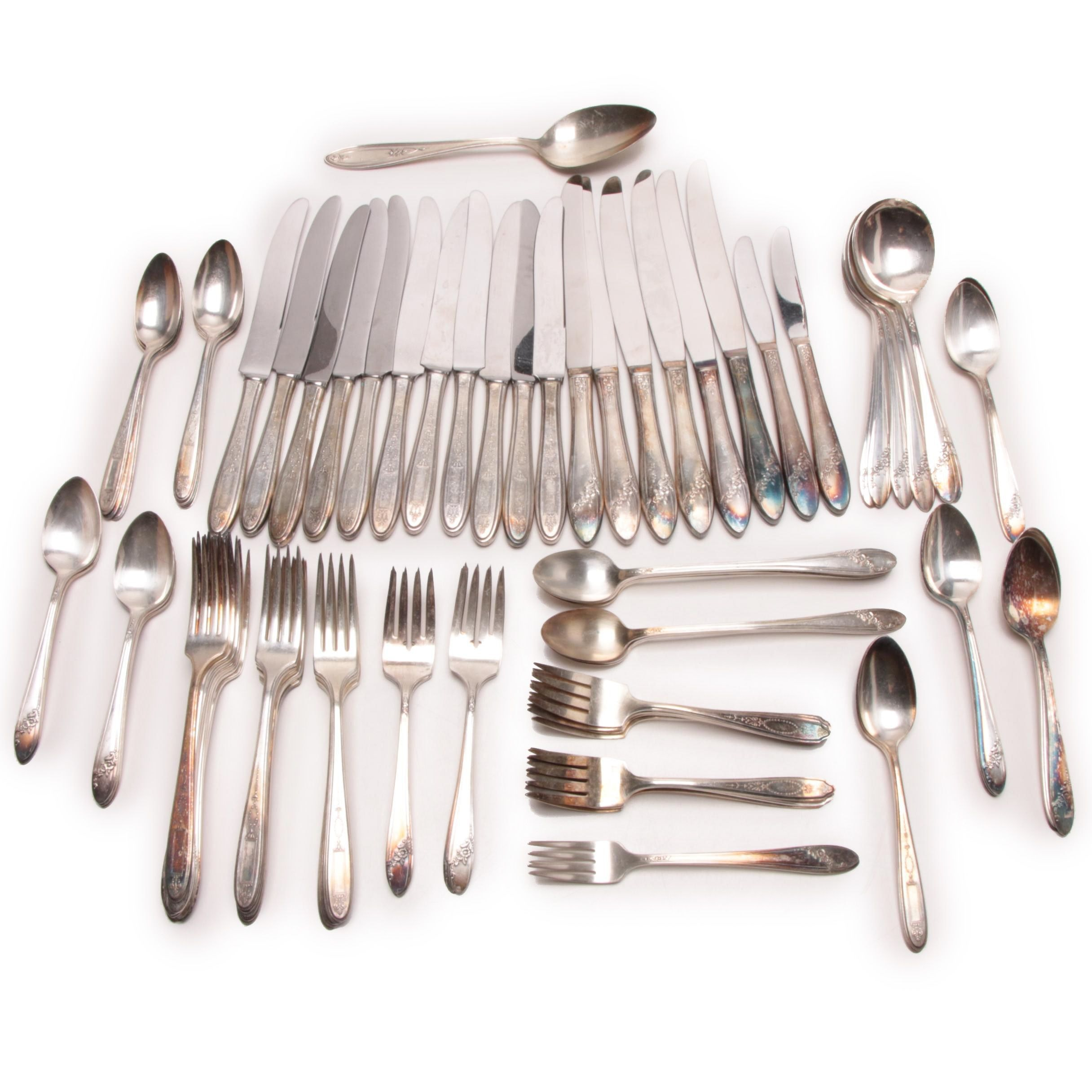Large Selection of Silver Plate Flatware