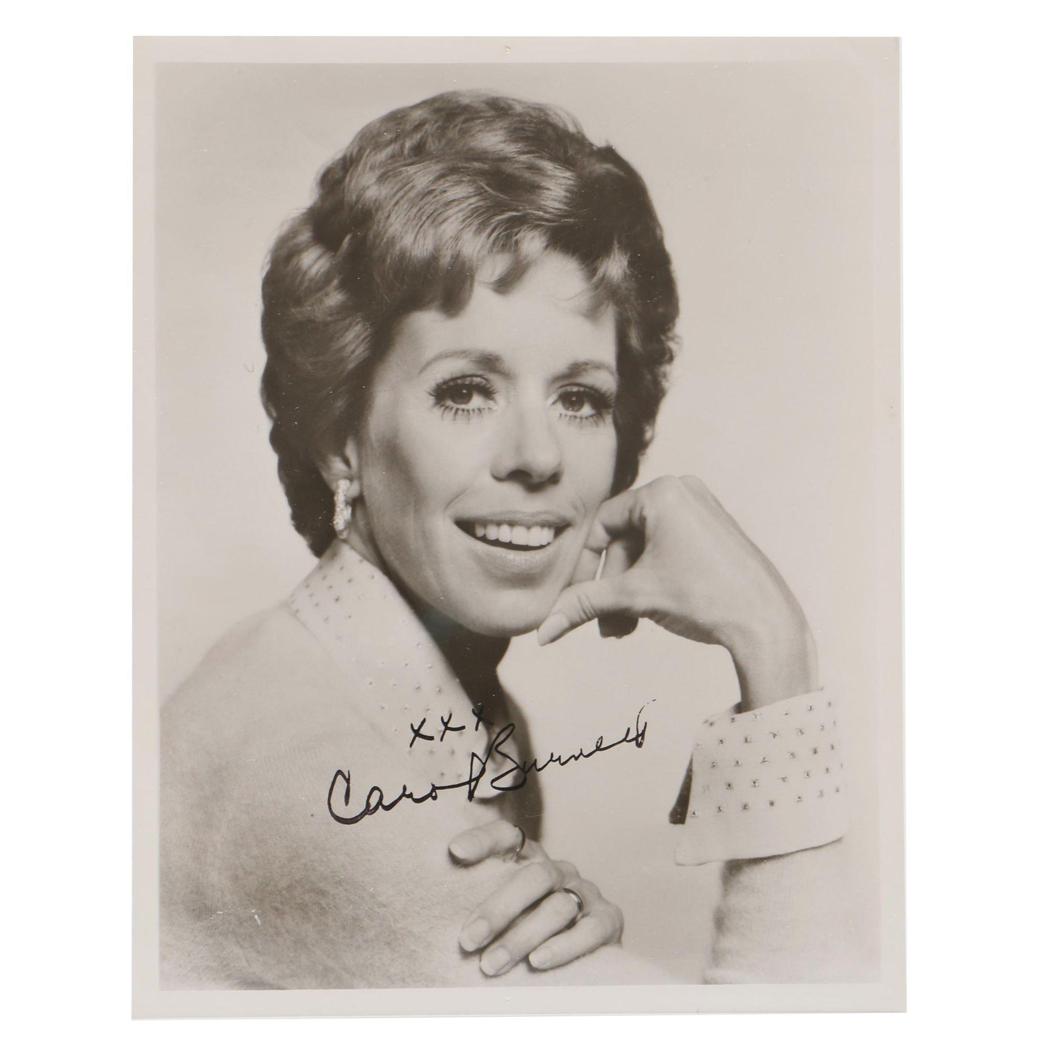 Carol Burnett Autographed Publicity Photo Print