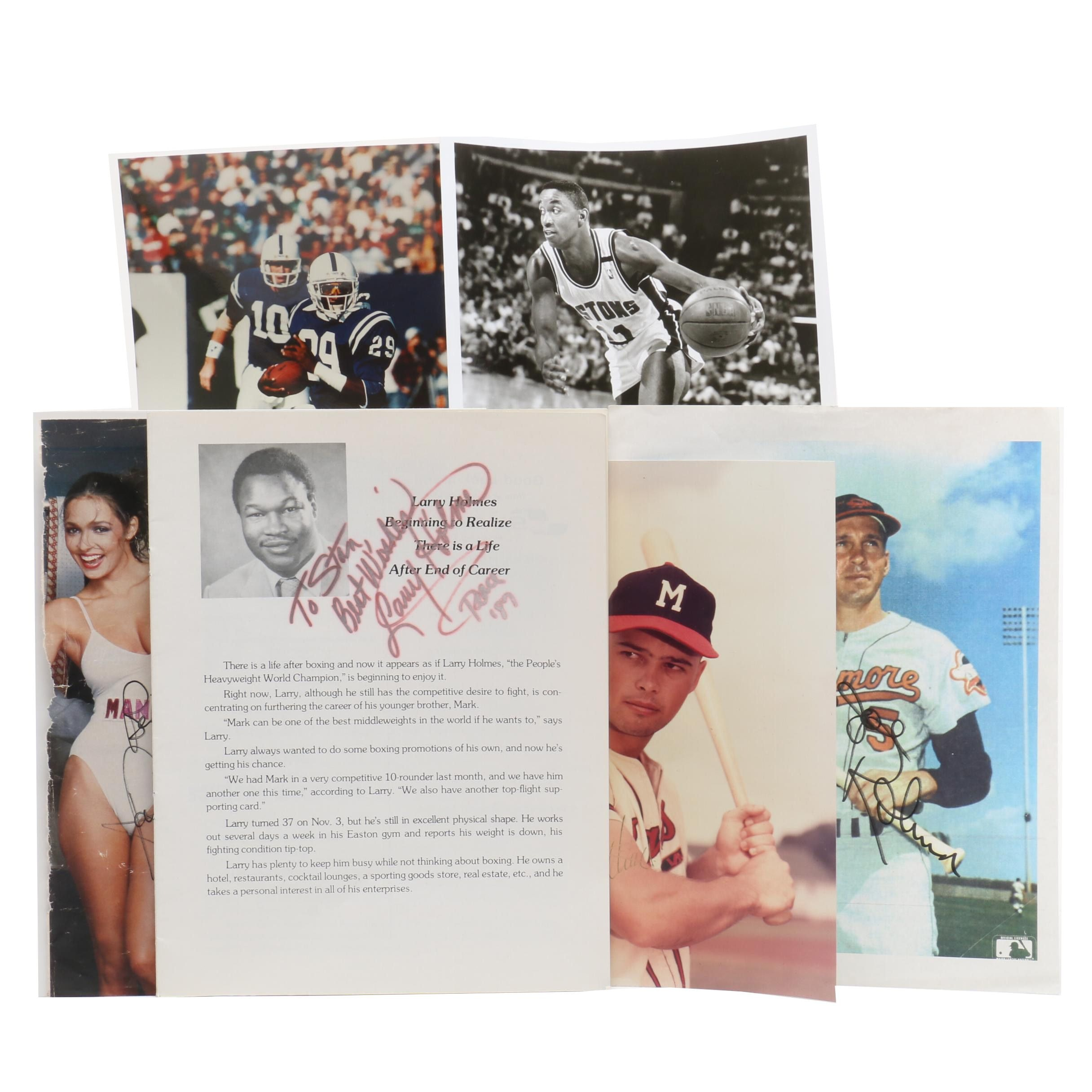 Autographed Photographs of Sports Figures