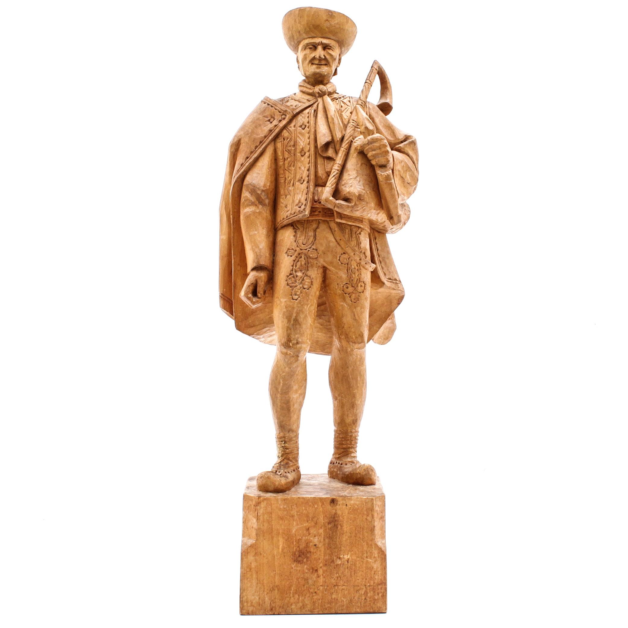 Yugoslavian Hand Carved Figurine